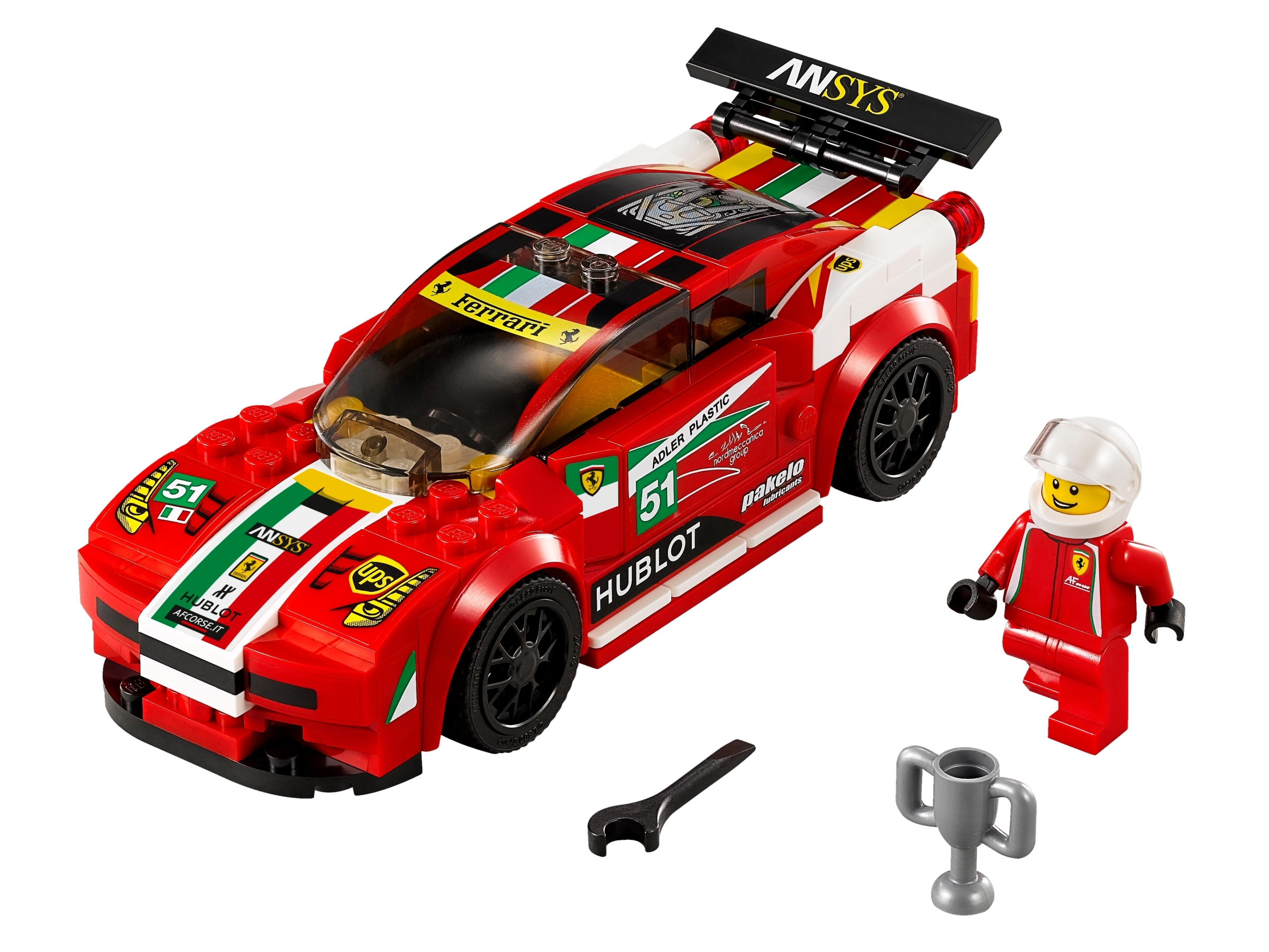 458 Italia Gt2 75908 Speed Champions Buy Online At The Official Lego Shop Gb