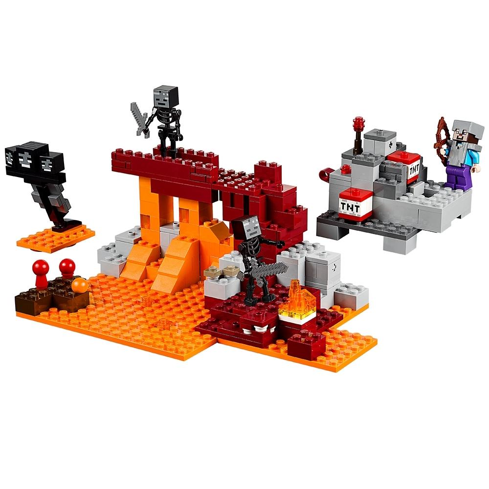 comme neuf Lego minifigur Minecraft Squelette avec arc