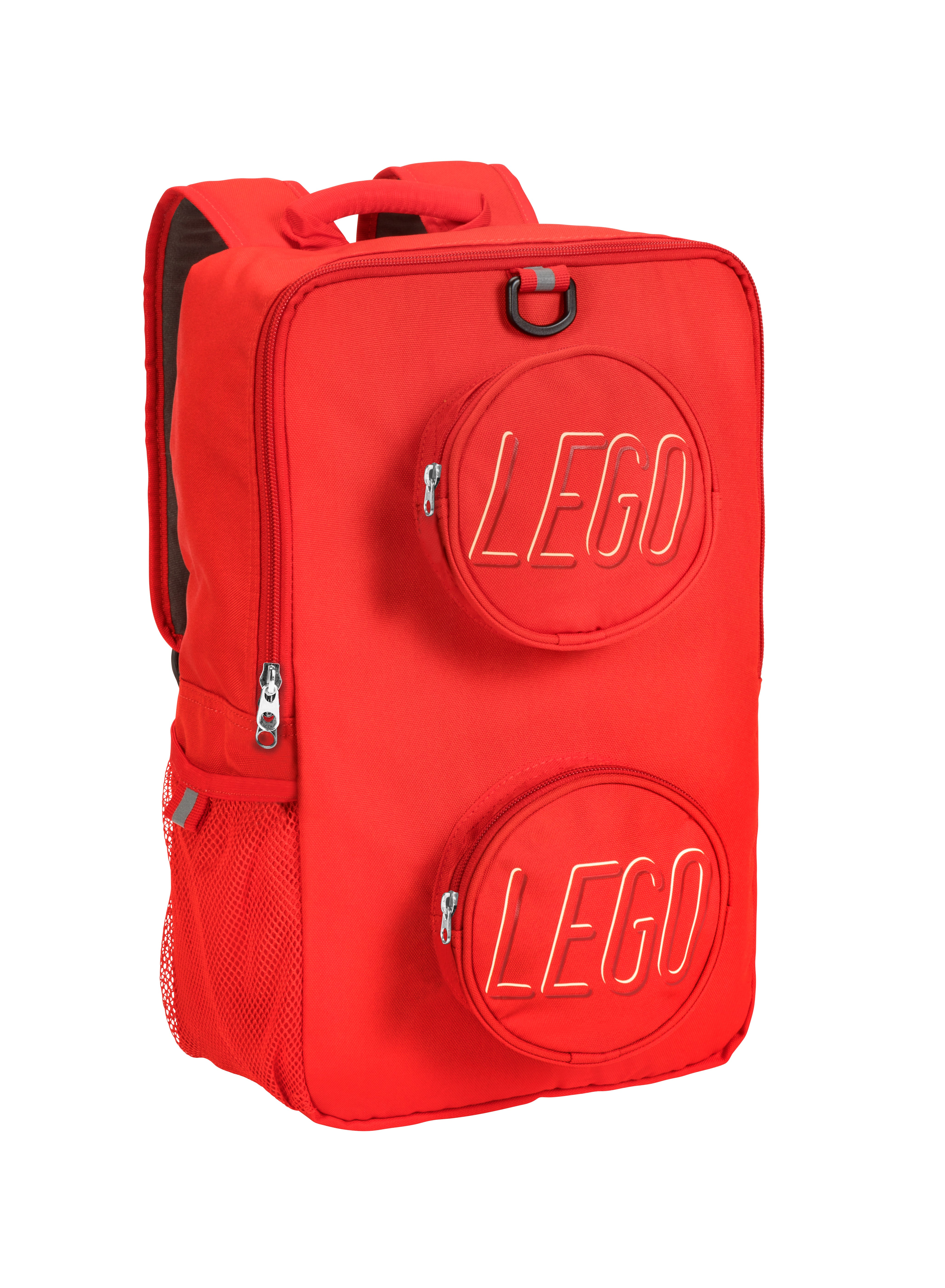 One Size LEGO Kids Brick Backpack Mini Backpack /& Pouch 4 Piece Set-Red Lunch