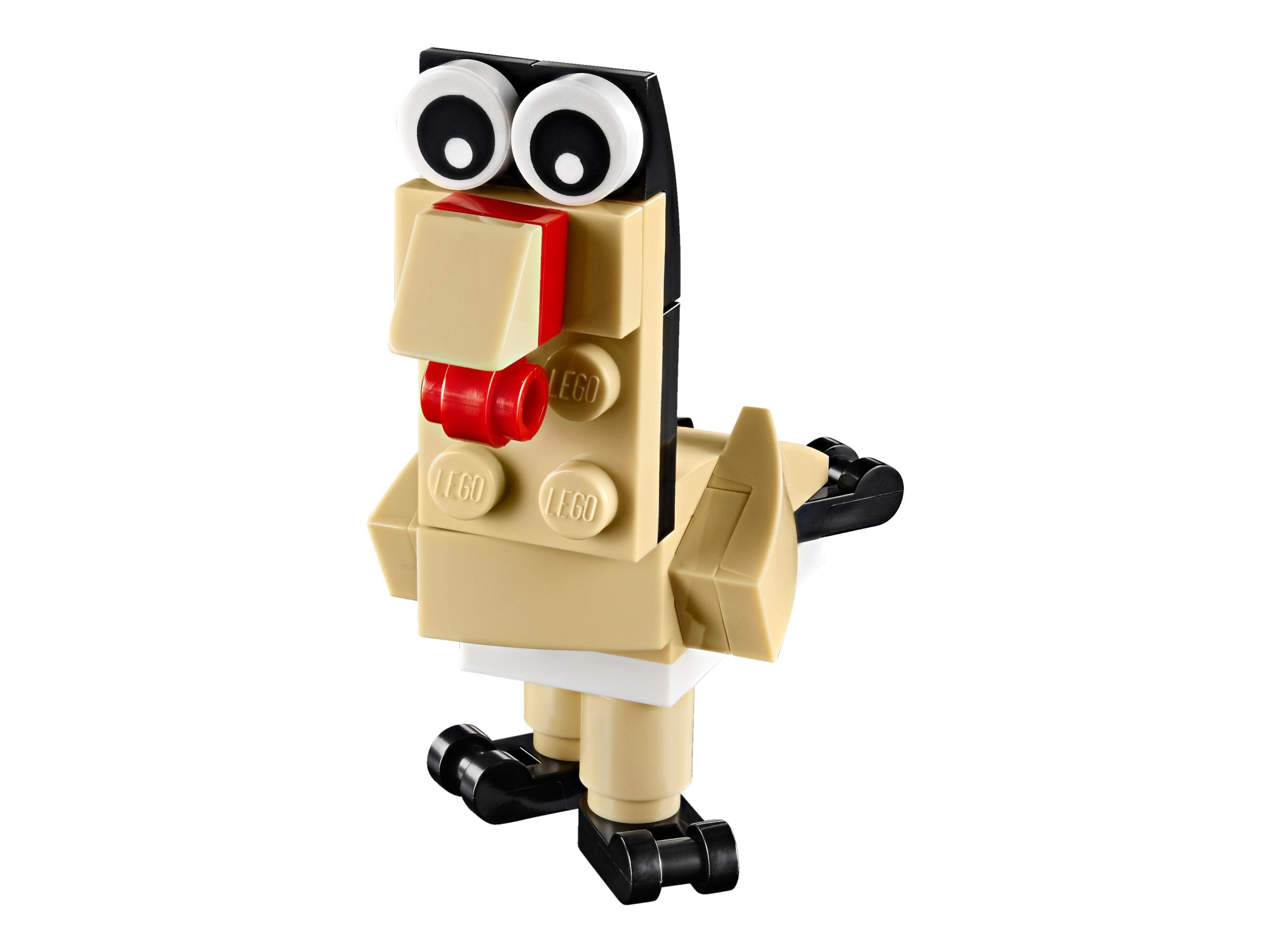 Cute Pug Lego Creator Polybag 30542 Limited Dog Fire Hydrant