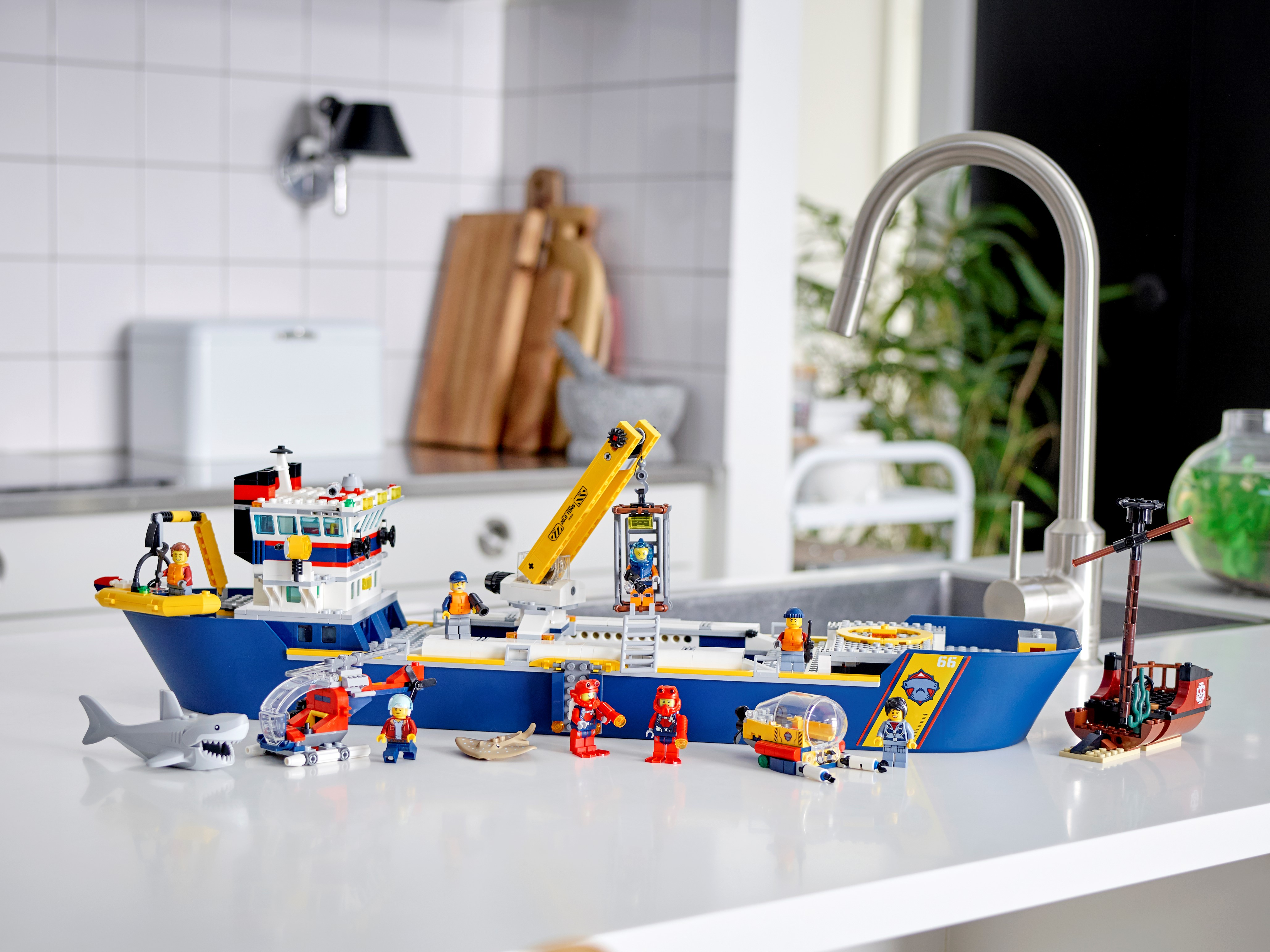 LEGO City 60266 Ocean Exploration Ship Building Kit New Release