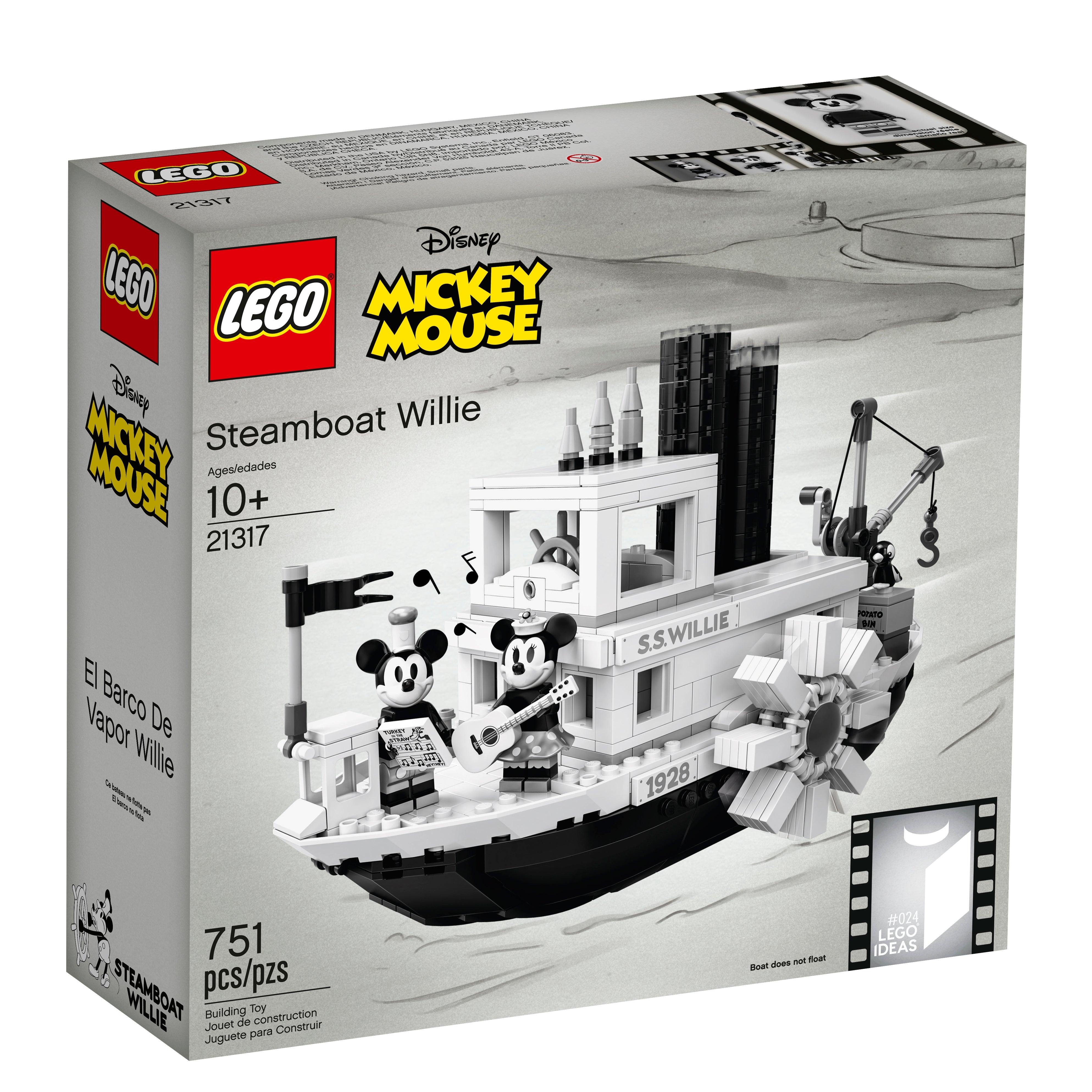 Steamboat Willie Set 21317 Building Blocks Bricks toys kids Minnie Mickey Mous