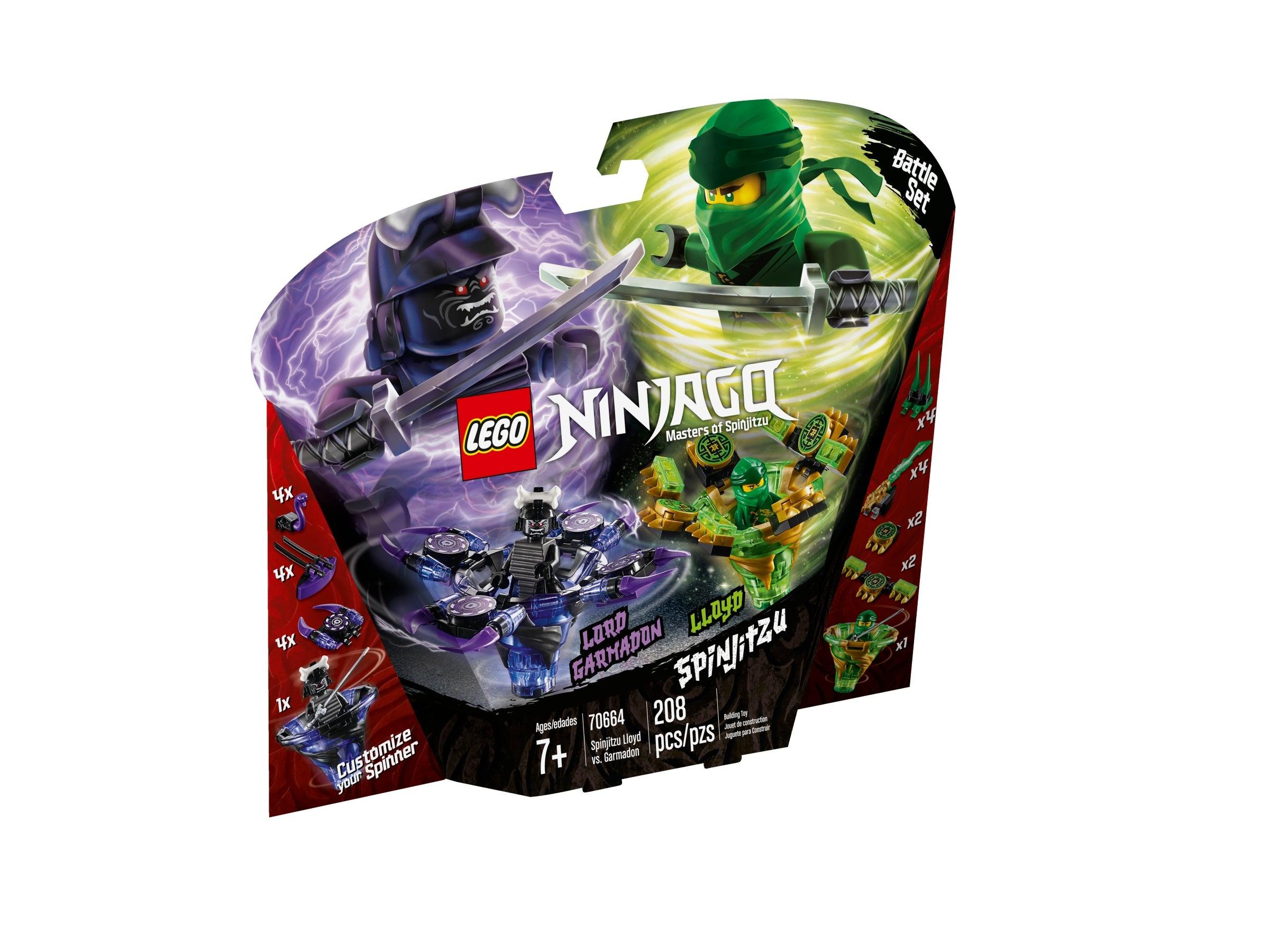 Garmadon et 70663 ña /& Wu n1//19 Lego Ninjago 70664 Spinjitzu Lloyd vs