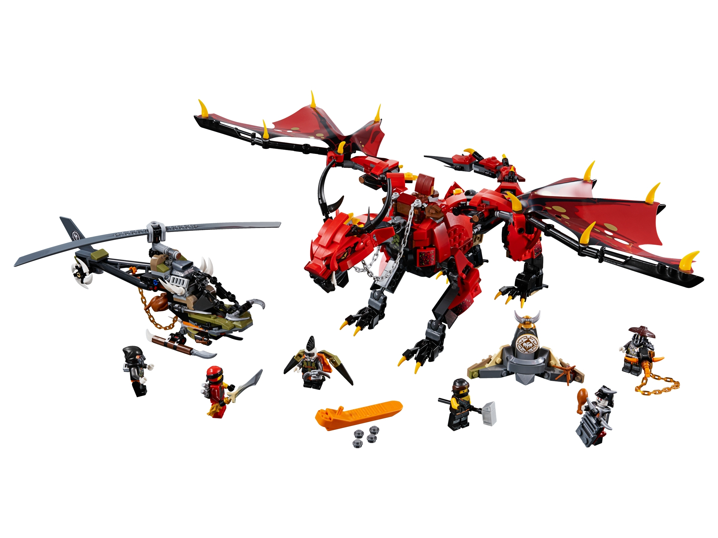 Firstbourne 70653 Ninjago Buy Online At The Official Lego Shop Us The helicopter model features stud shooters, dragon bait and assorted ninja weapons. firstbourne