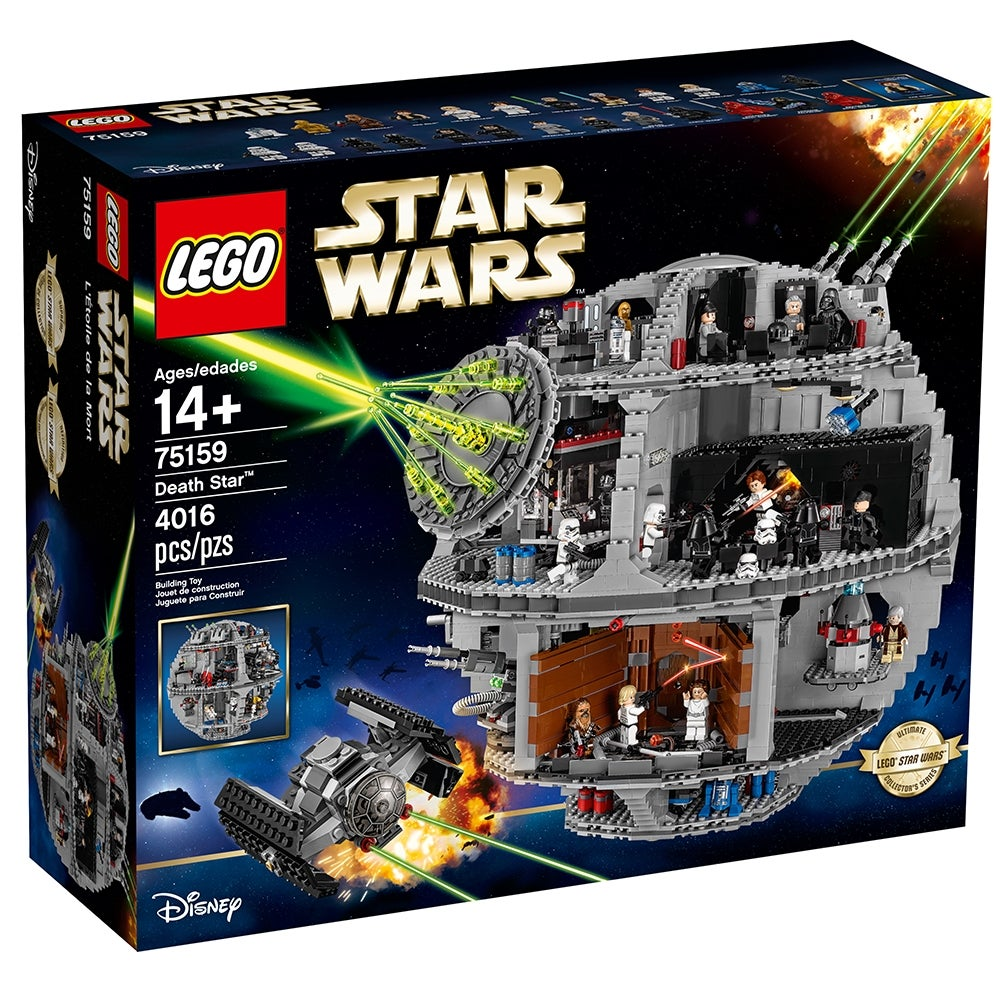 New Genuine LEGO Christmas Ornament Star Wars Death Star with Instructions