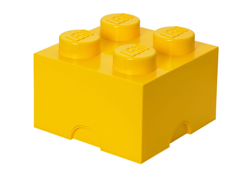 Brique de rangement LEGO® jaune 4 tenons