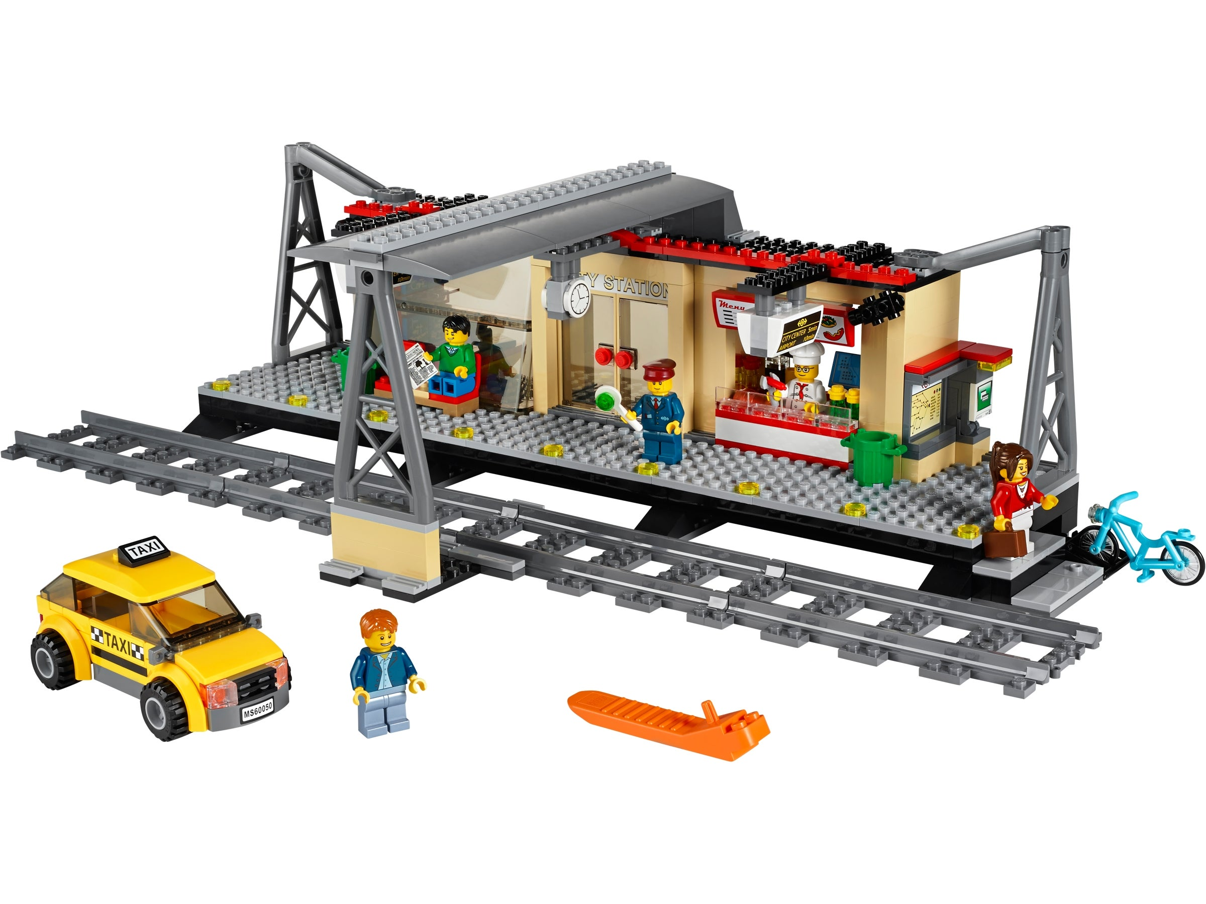 LEGO City train station//stop /& signal w sticker and instruction