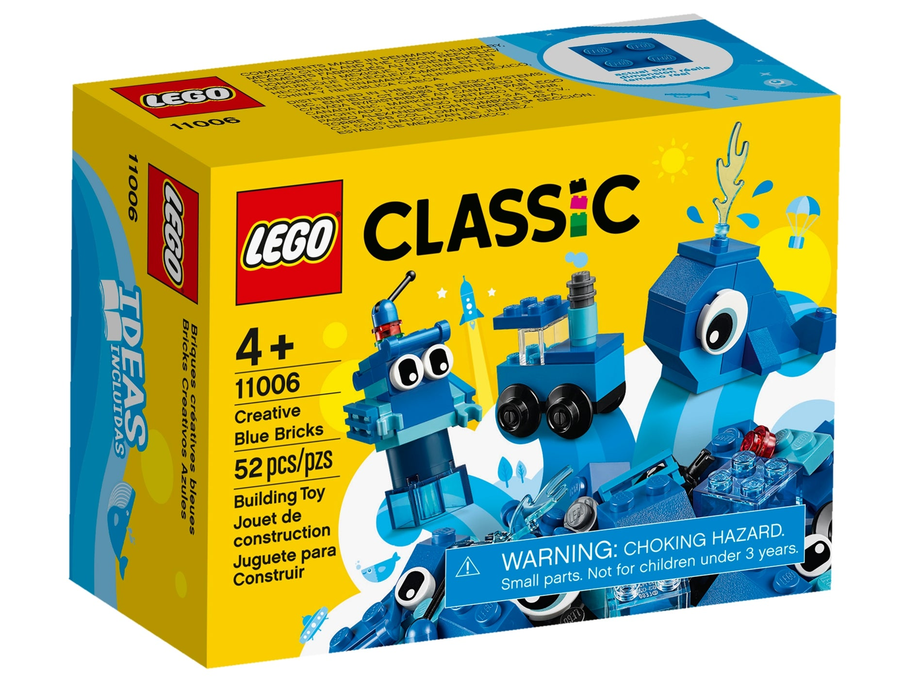 2x6 12er-Block-Special Stone Motif Stone Lego Duplo-VILLE-BLUE