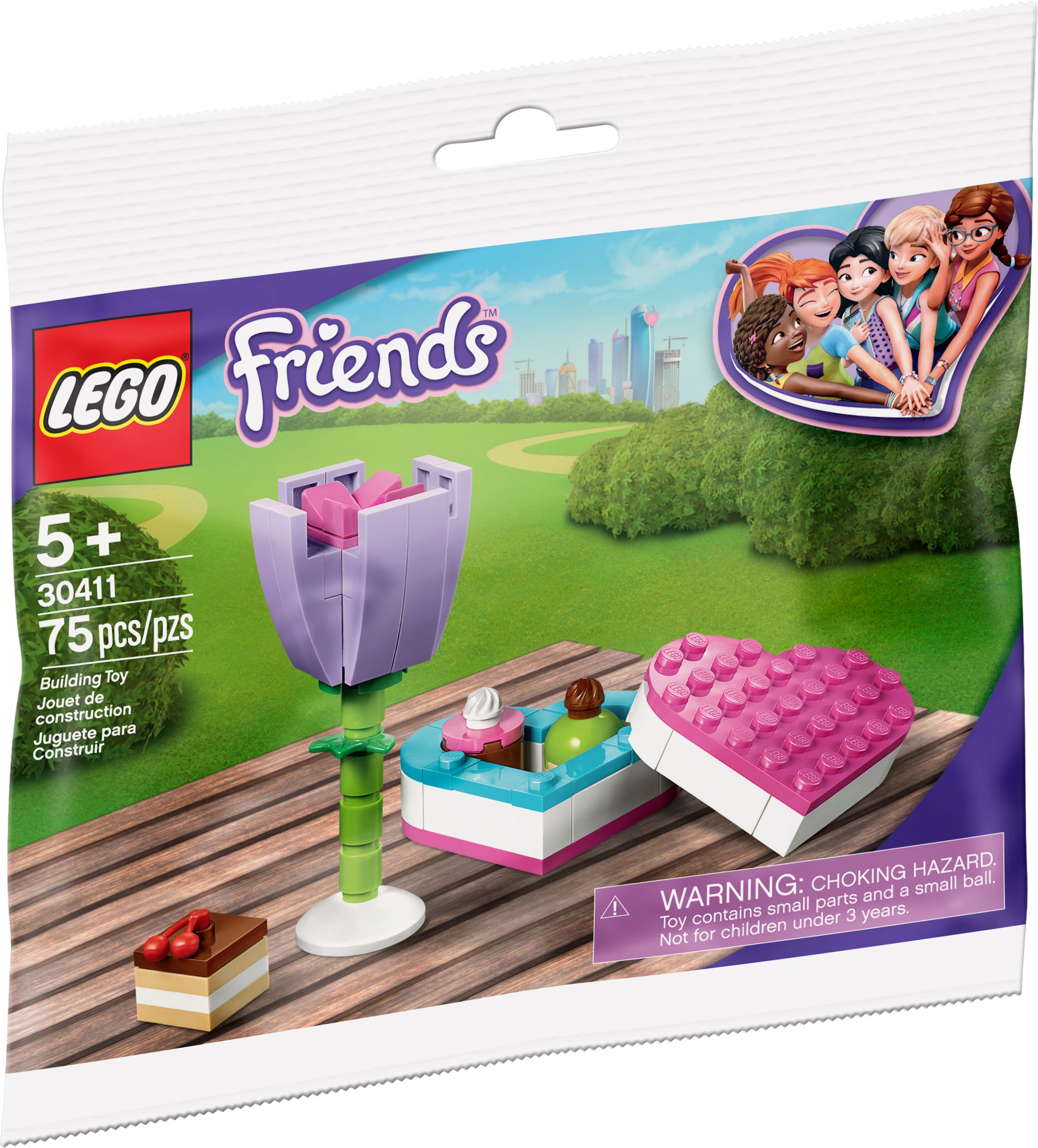 Free Shipping Kids Lego 30411 Friends Chocolate Box /& Flower Polybag Brand New