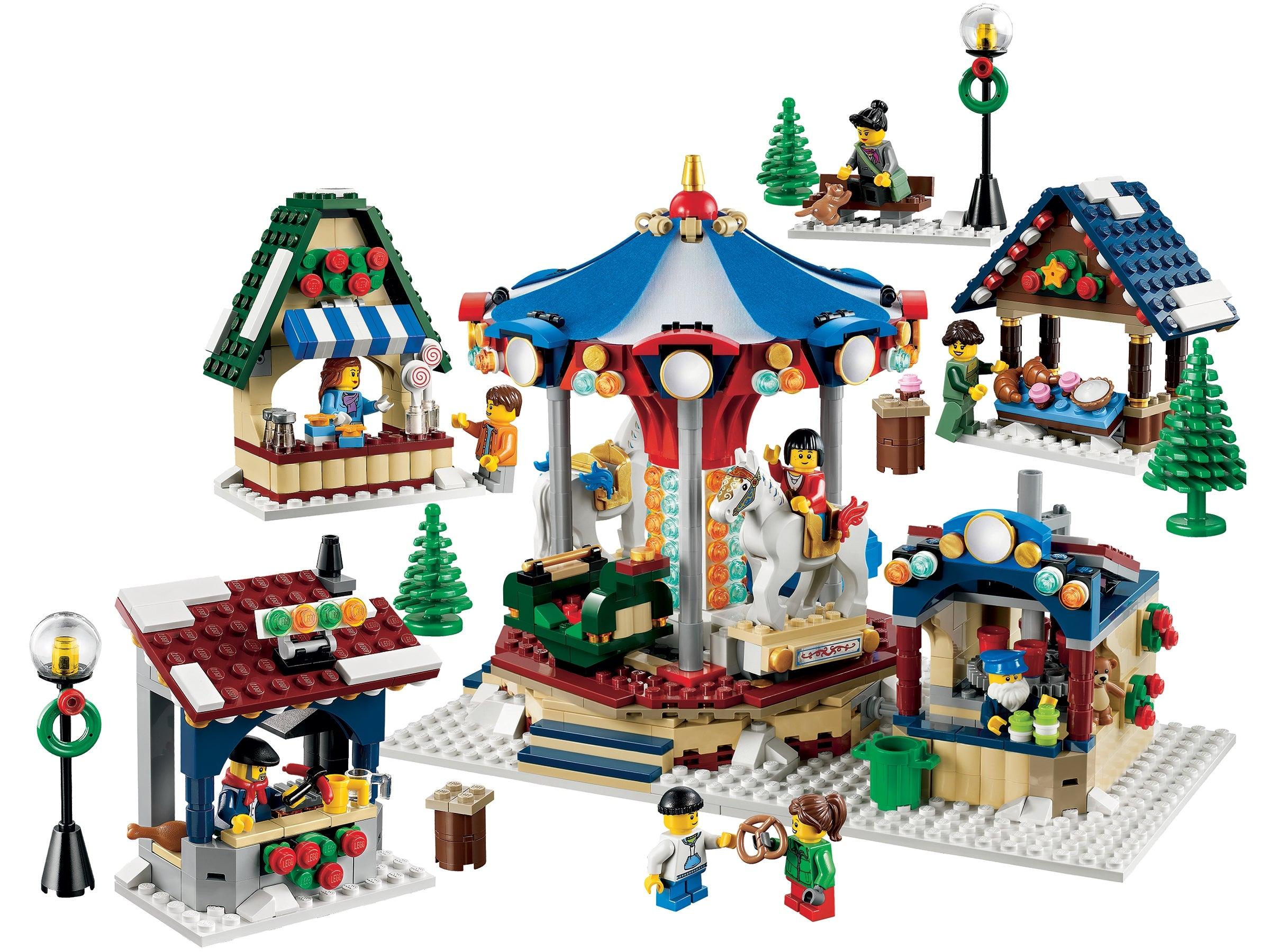 NEW SEALED RETIRED ***SHIPS GLOBAL* LEGO 10235 WINTER VILLAGE MARKET CAROUSEL