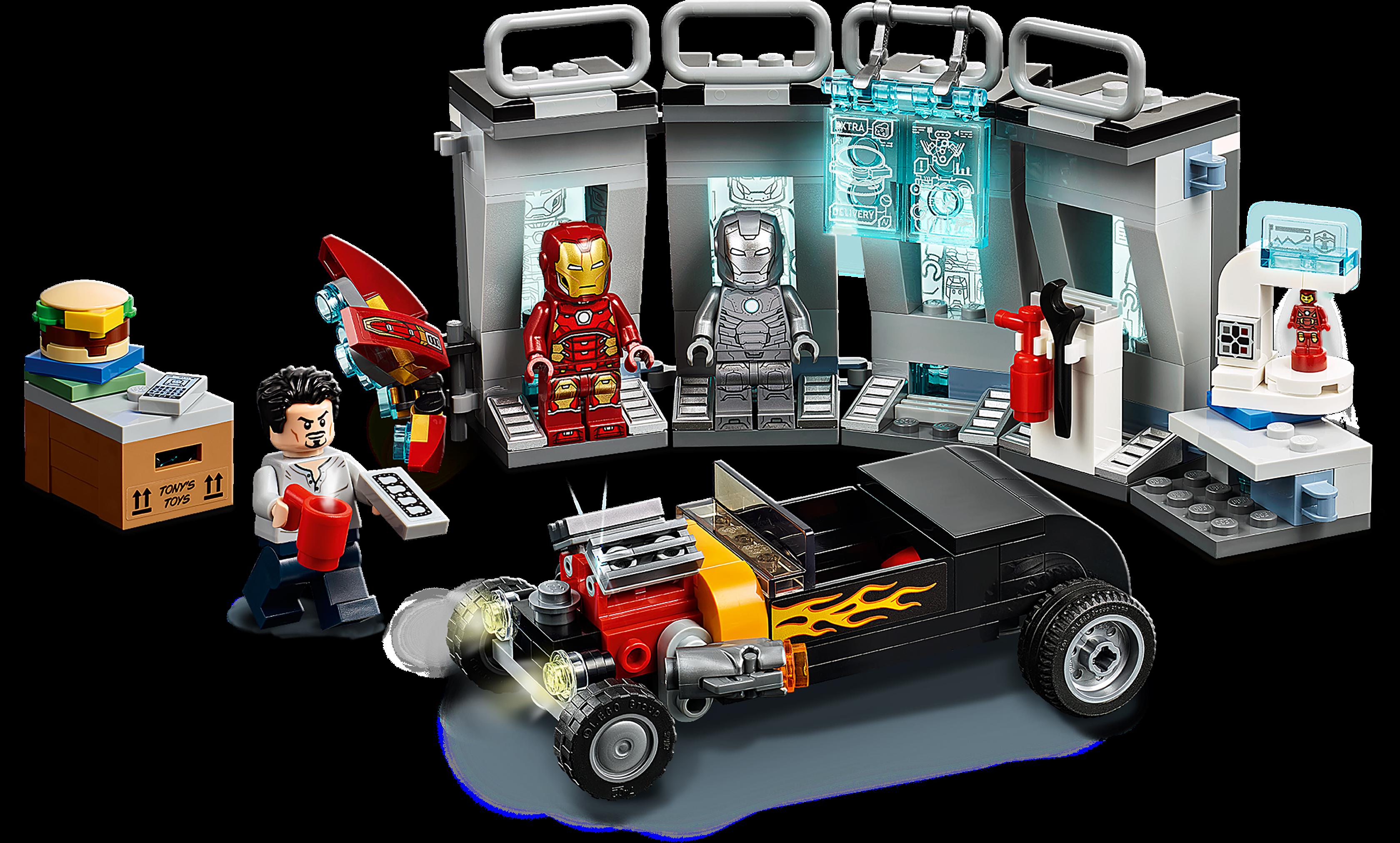 Ironman WARMASCHINE Roady Tony Stark Avengers Endgame komplett Lego kompatibel