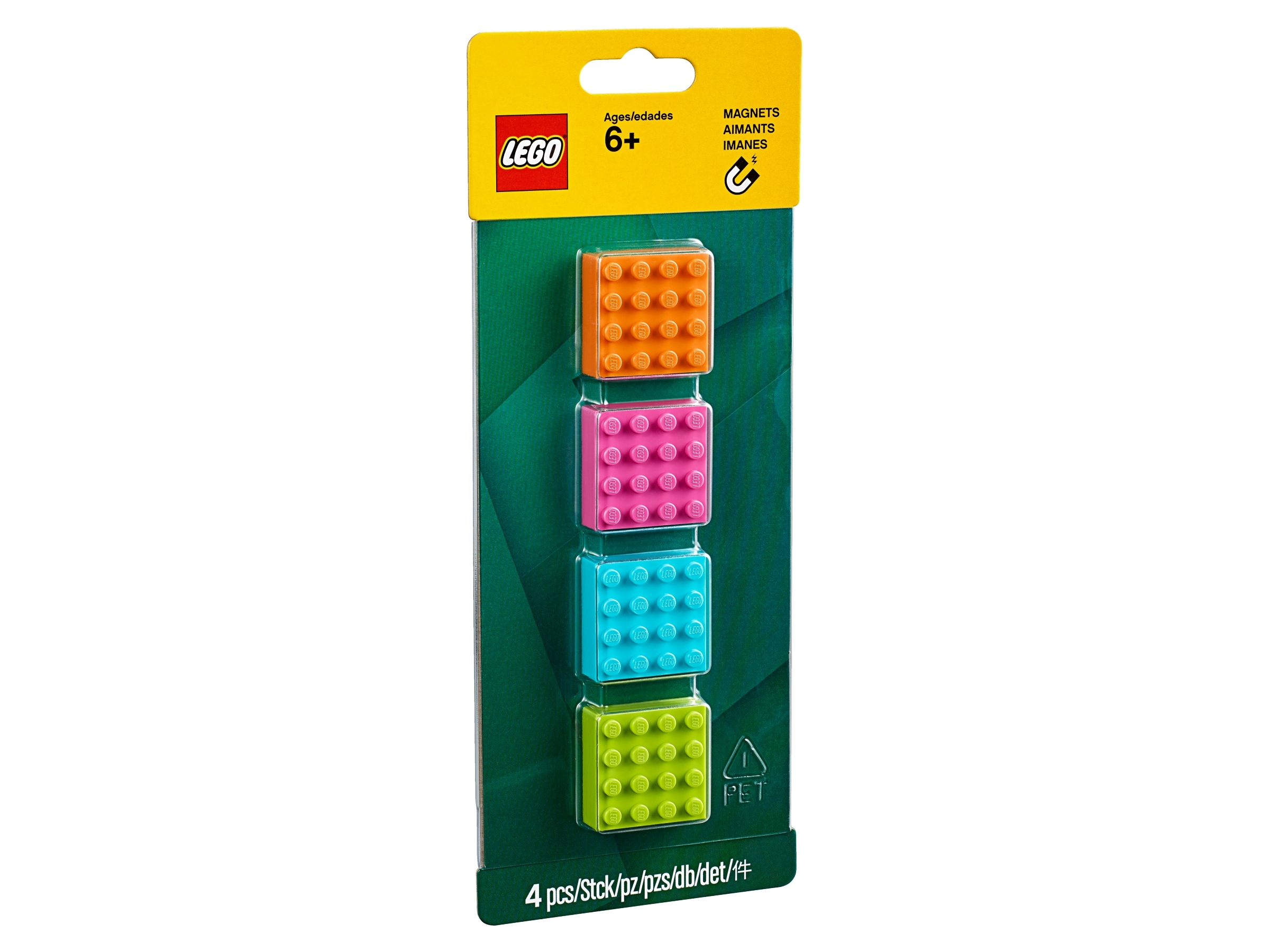 Lego 4x4 Brick Magnets 853900 Miscellaneous Buy Online At The Official Lego Shop It