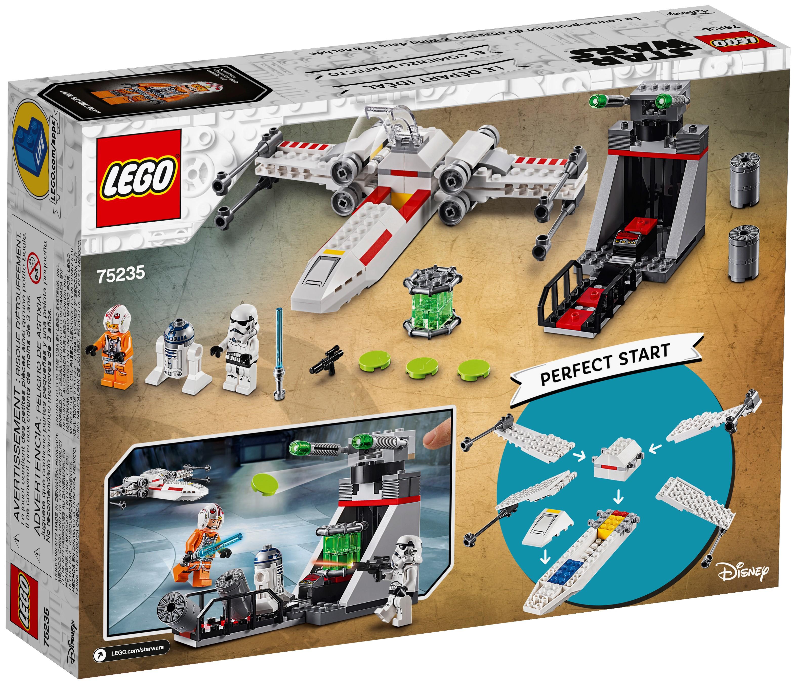 Neuf Gratuit P P Lego 75235 SW527A X-Wing Trench Run R2-D2 uniquement