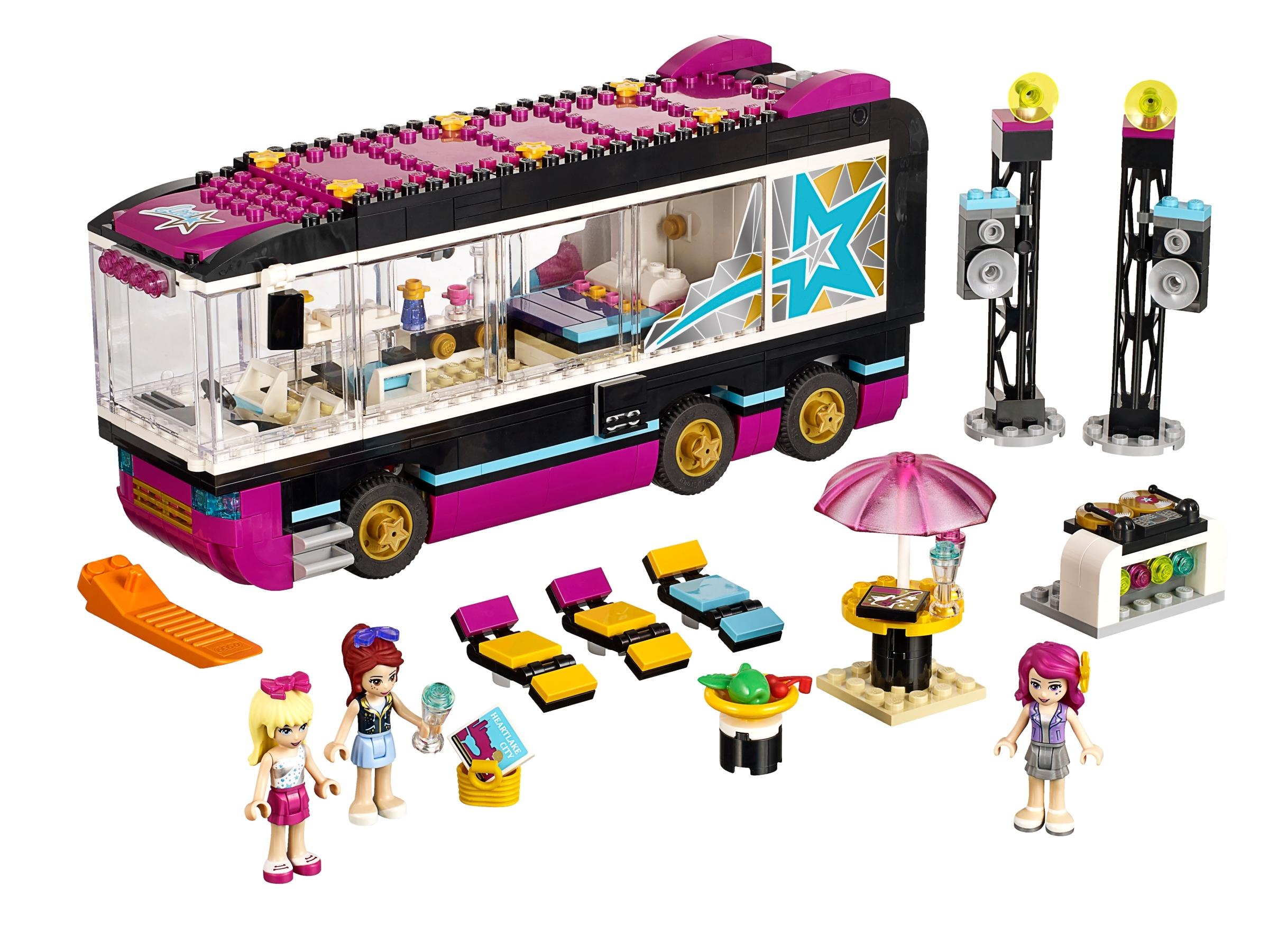 LEGO Friends 41106 Popstar Tourbus Pop Stars Livi Girls ...