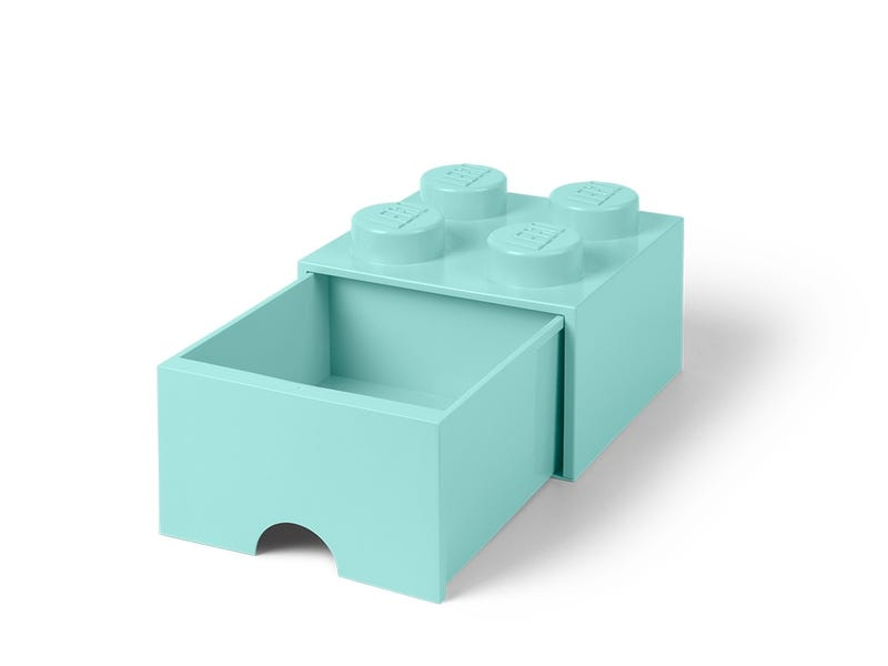 LEGO 4-Stud Aqua Light Blue Storage Brick Drawer