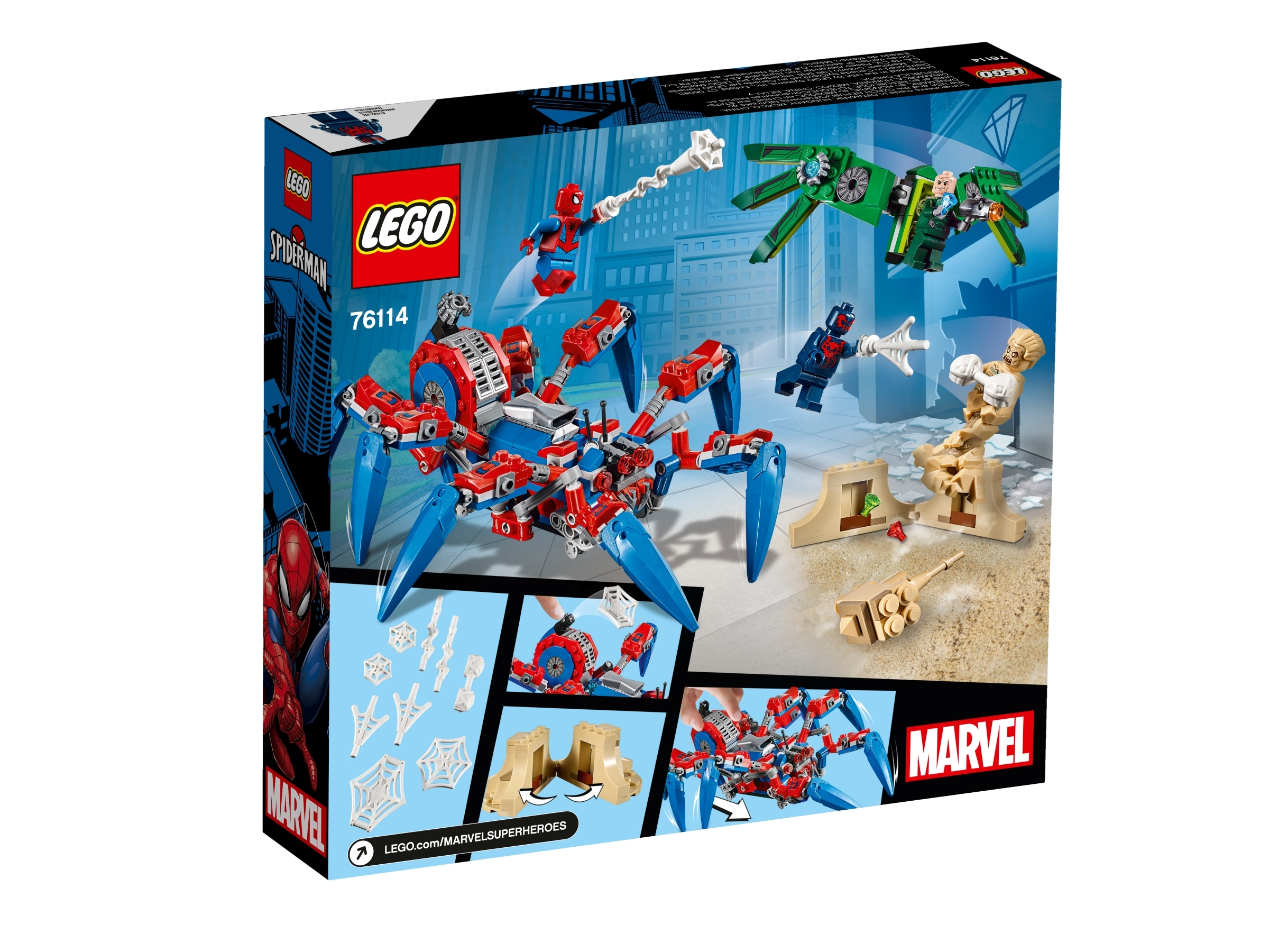 LEGO 76114 Marvel Spider-man's Spider Crawler 418 Pieces With 4 Minifigures