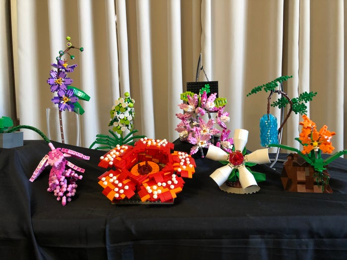 Inez' beautiful flower creations pay homage to her country