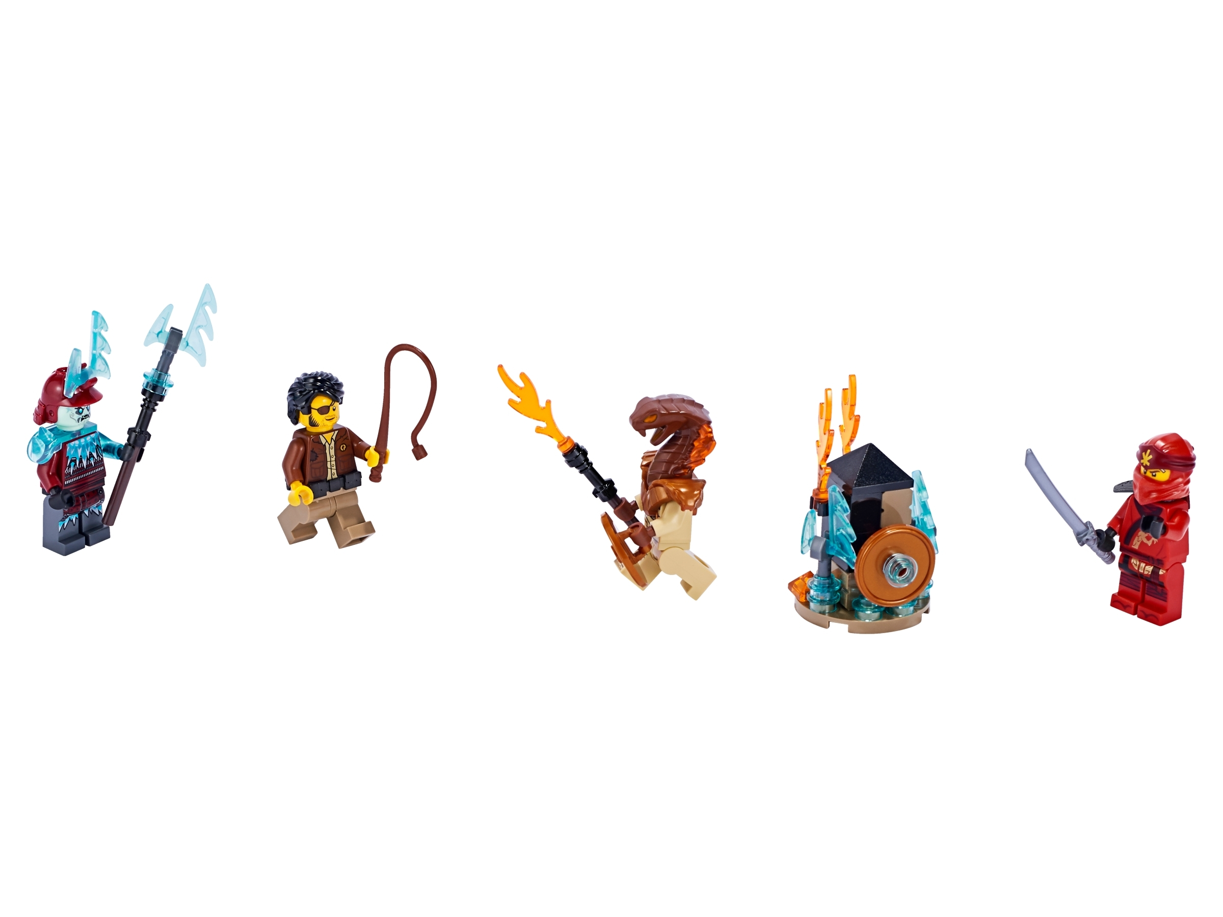 Lego Ninjago 3-pack set Kai Clutch Powers ice fire 40342 BRAND NEW EXCLUSIVE