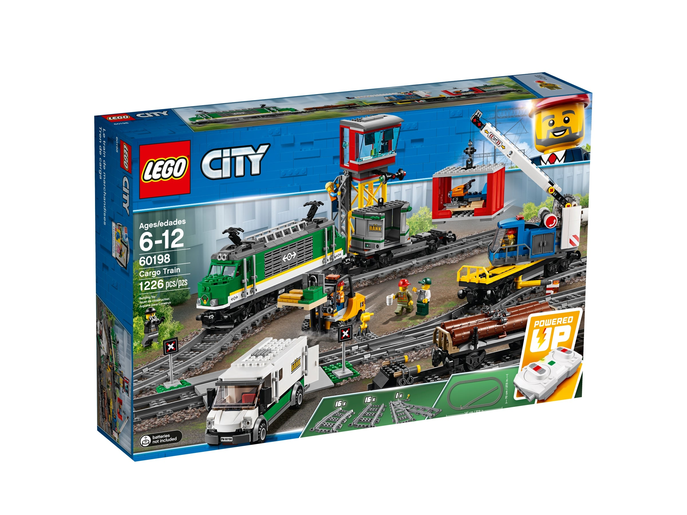 Building block toy. 10 x Curved City Train Tracks Compatible with Lego