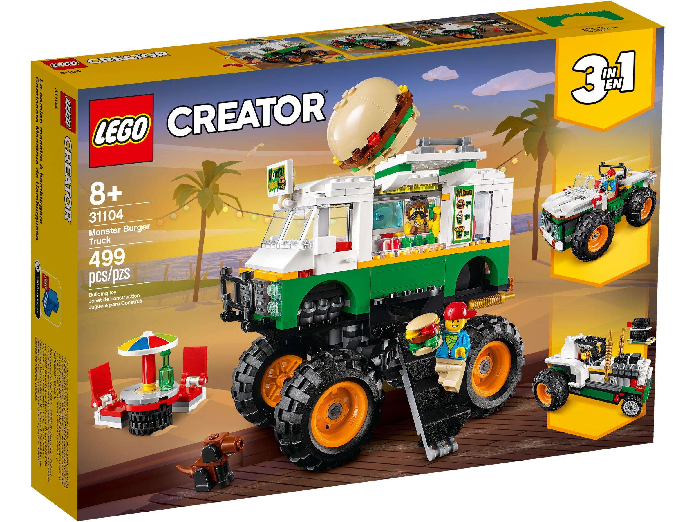 Monster Burger Truck 31104 Creator 3 In 1 Buy Online At The Official Lego Shop Se