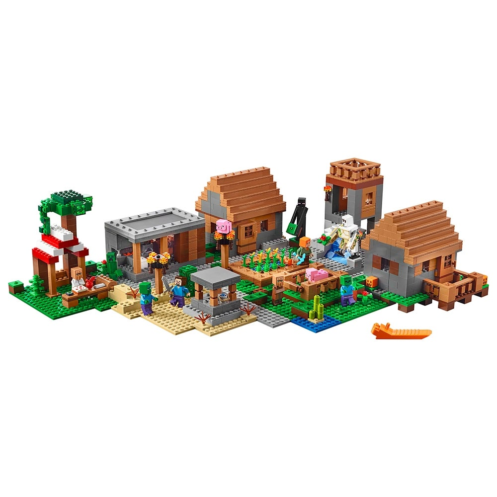 LEGO Minecraft The Villager Raid Building Toy Construction Playset for Boys//Girl
