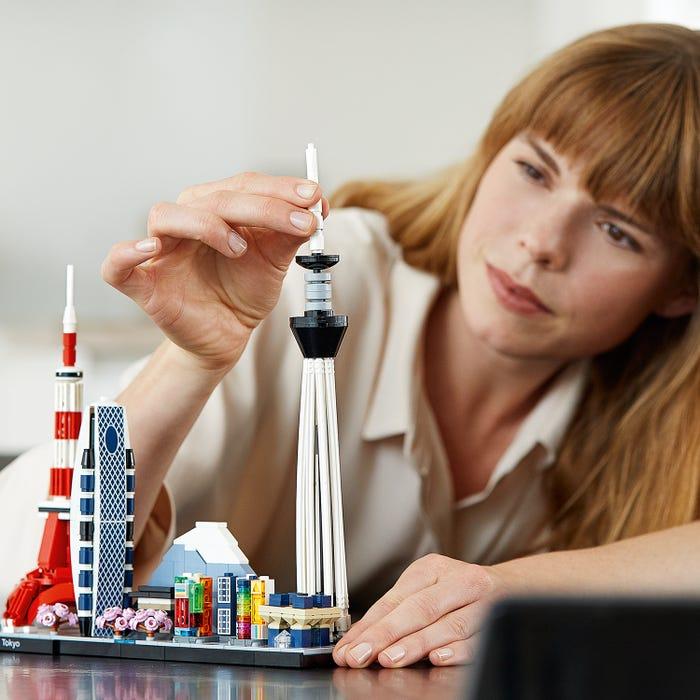 The LEGO® Tokyo skyline
