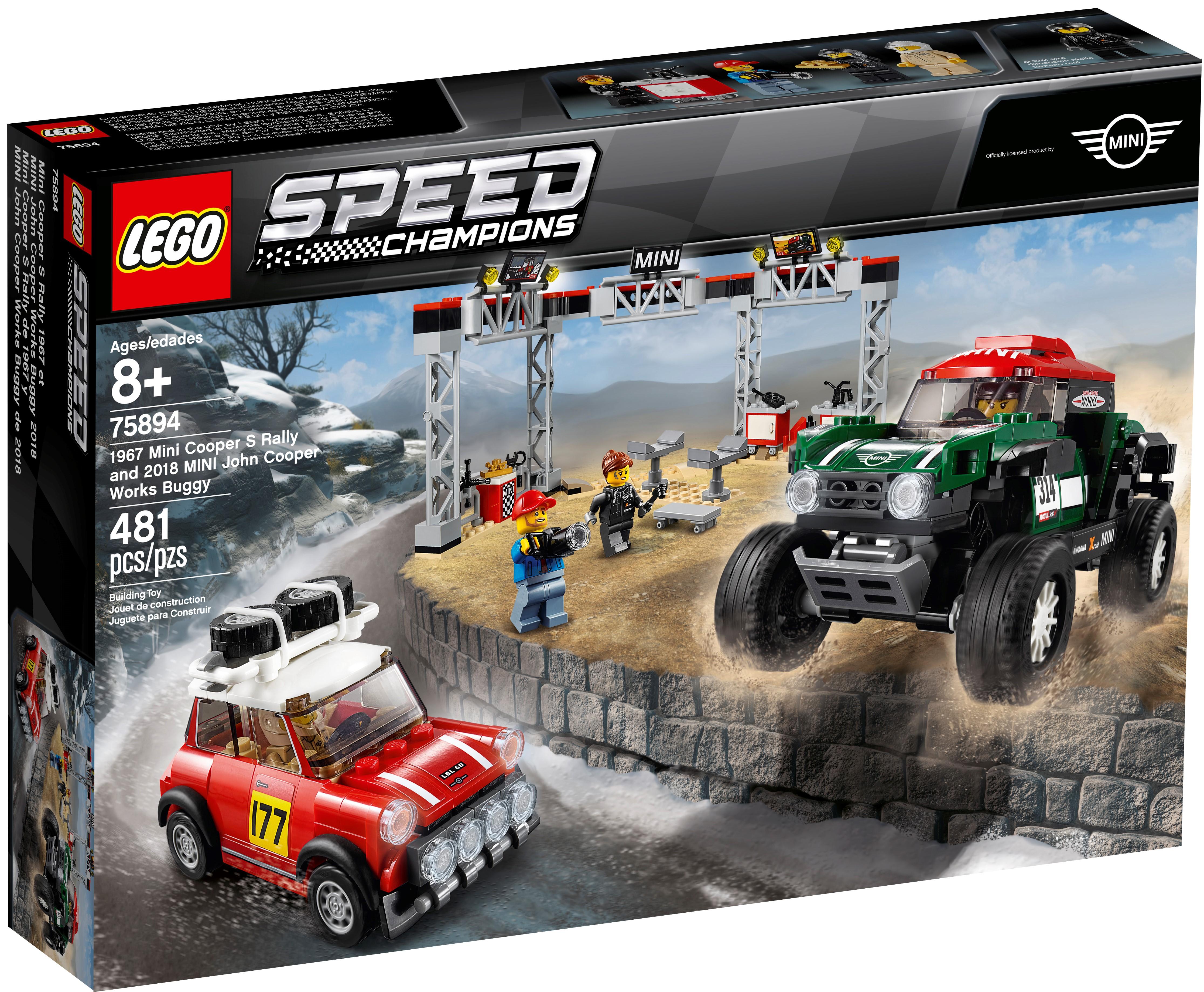 Lego MINI John Cooper Works Buggy Fahrer Speed Champions Minifigur sc070 Neu