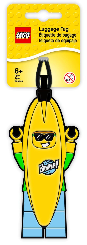 Etiqueta de equipaje del Chico con disfraz de plátano LEGO®
