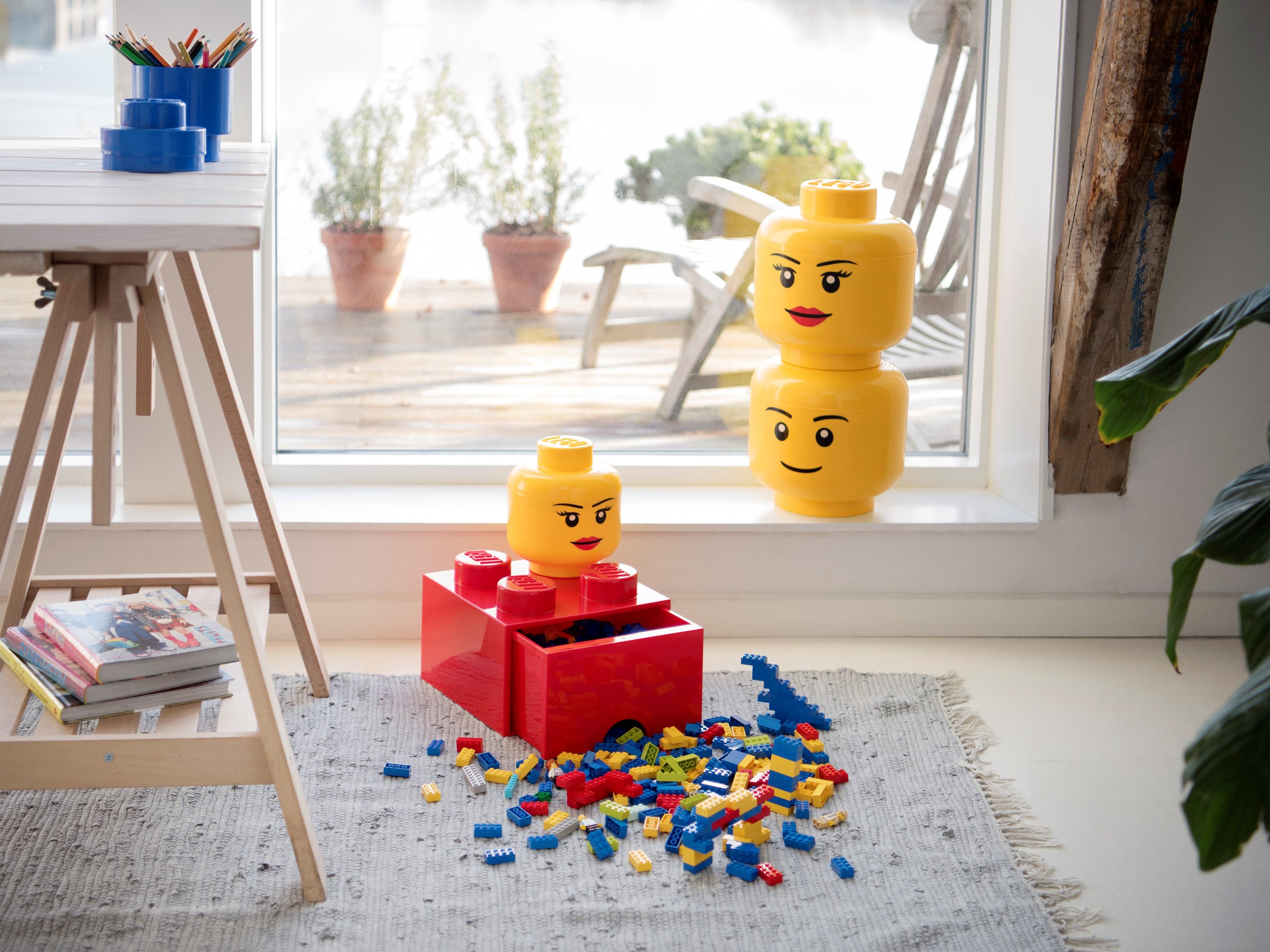 Boite De Rangement En Forme De Tete Version Garcon Lego Grande 5005528 Divers Boutique Lego Officielle Fr