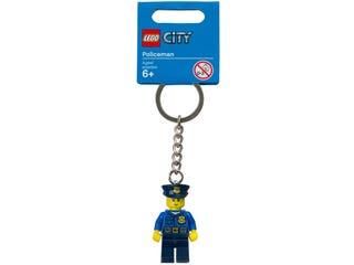 레고® 시티 경찰관 열쇠고리