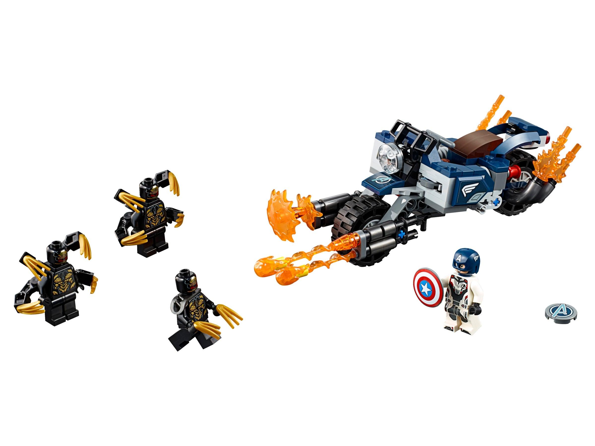New Marvel Super Heroes LEGO® Captain America/'s Shield Avengers 76143 76123