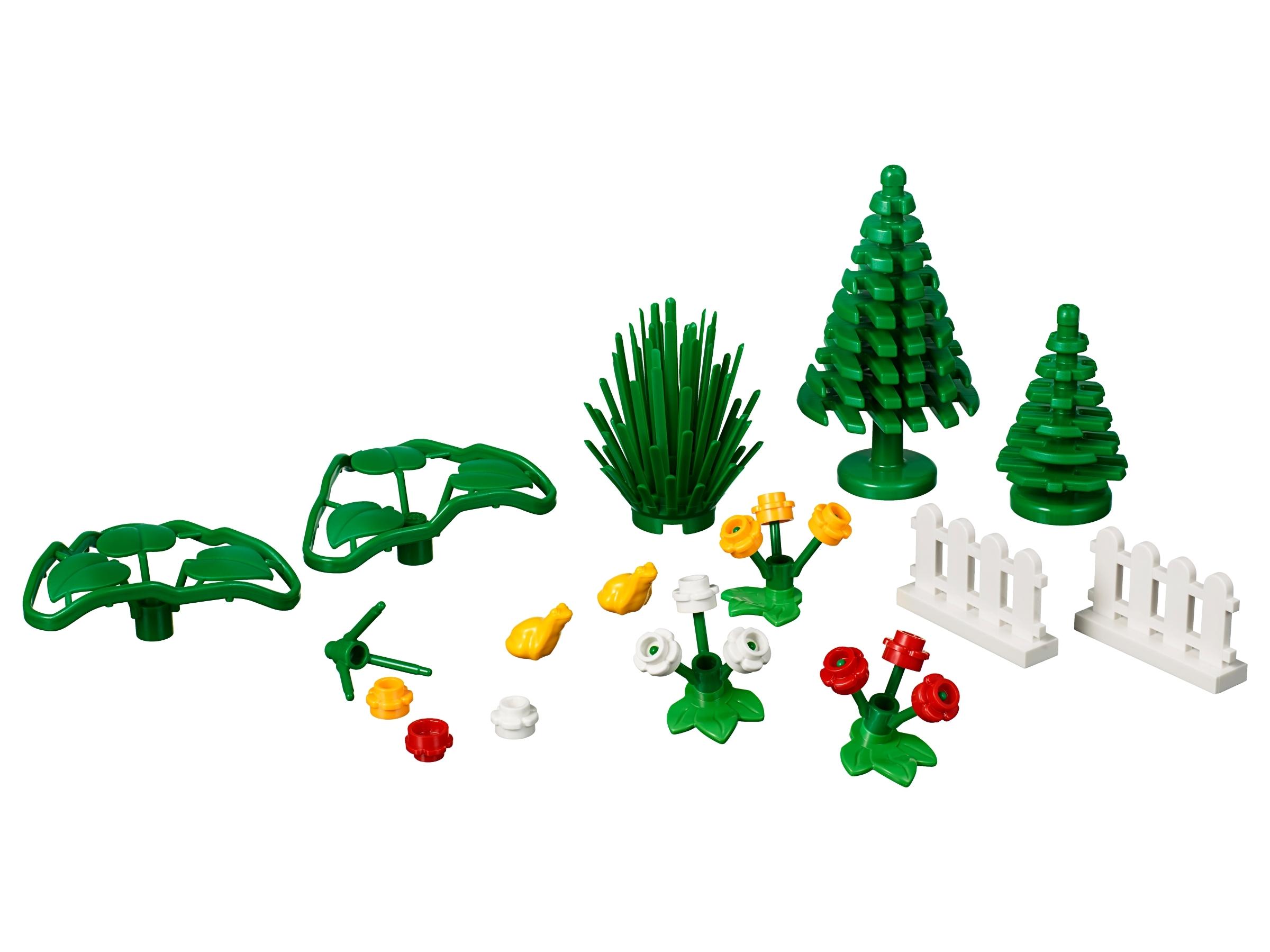 Lego Xtra City Town Accessories Botanicals Plants Flowers NEW 32 pcs 40376
