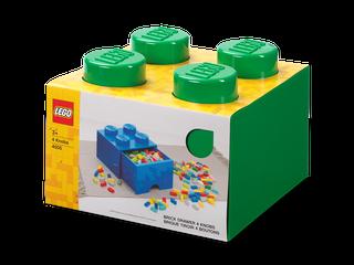 4-Stud Brick Drawer – Green