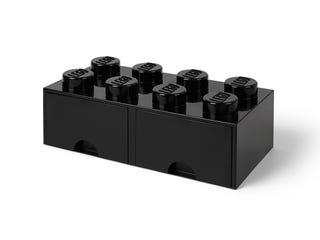 LEGO® 8-Stud Black Storage Brick Drawer