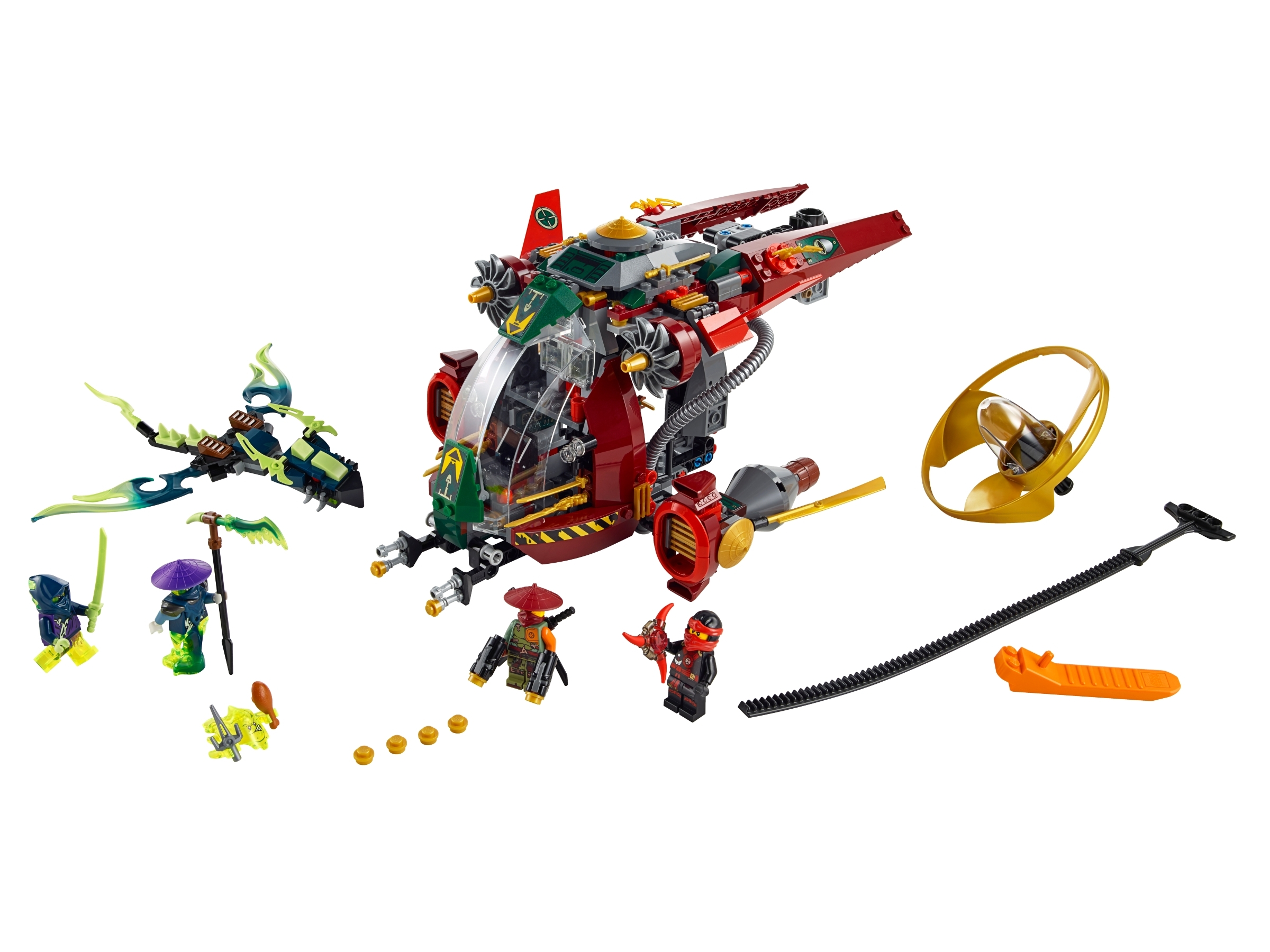 LEGO 70735 Ninjago Skreemer Minifigure split from set 70735