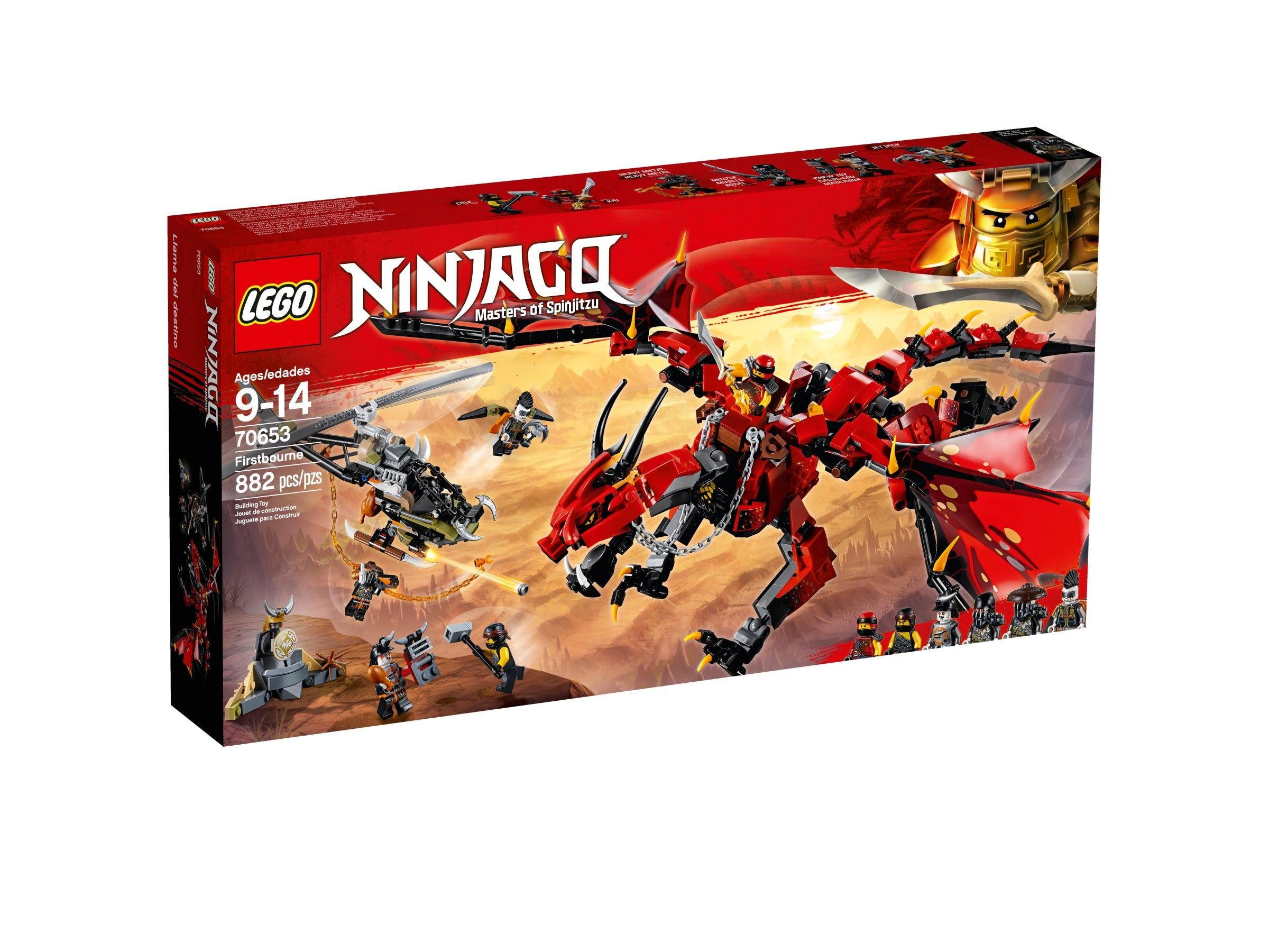 KAI/'S FIRSTBOURNE DRAGON vs MUZZEL /& JET JACK set fits lego figure NINJAGO