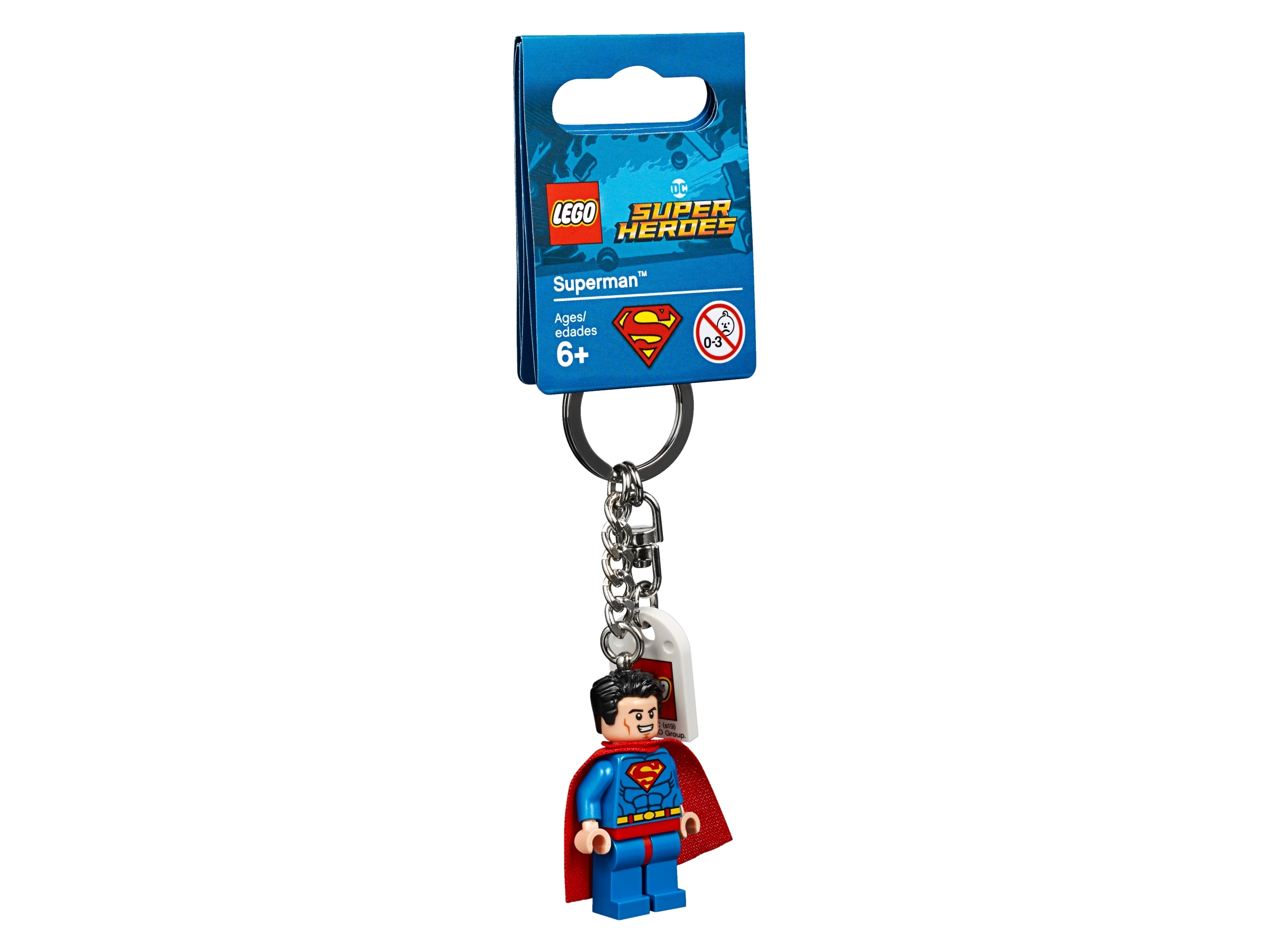 Superman lego mini figure keychain NEW WITH TAGS MAN OF STEEL  Key Chain