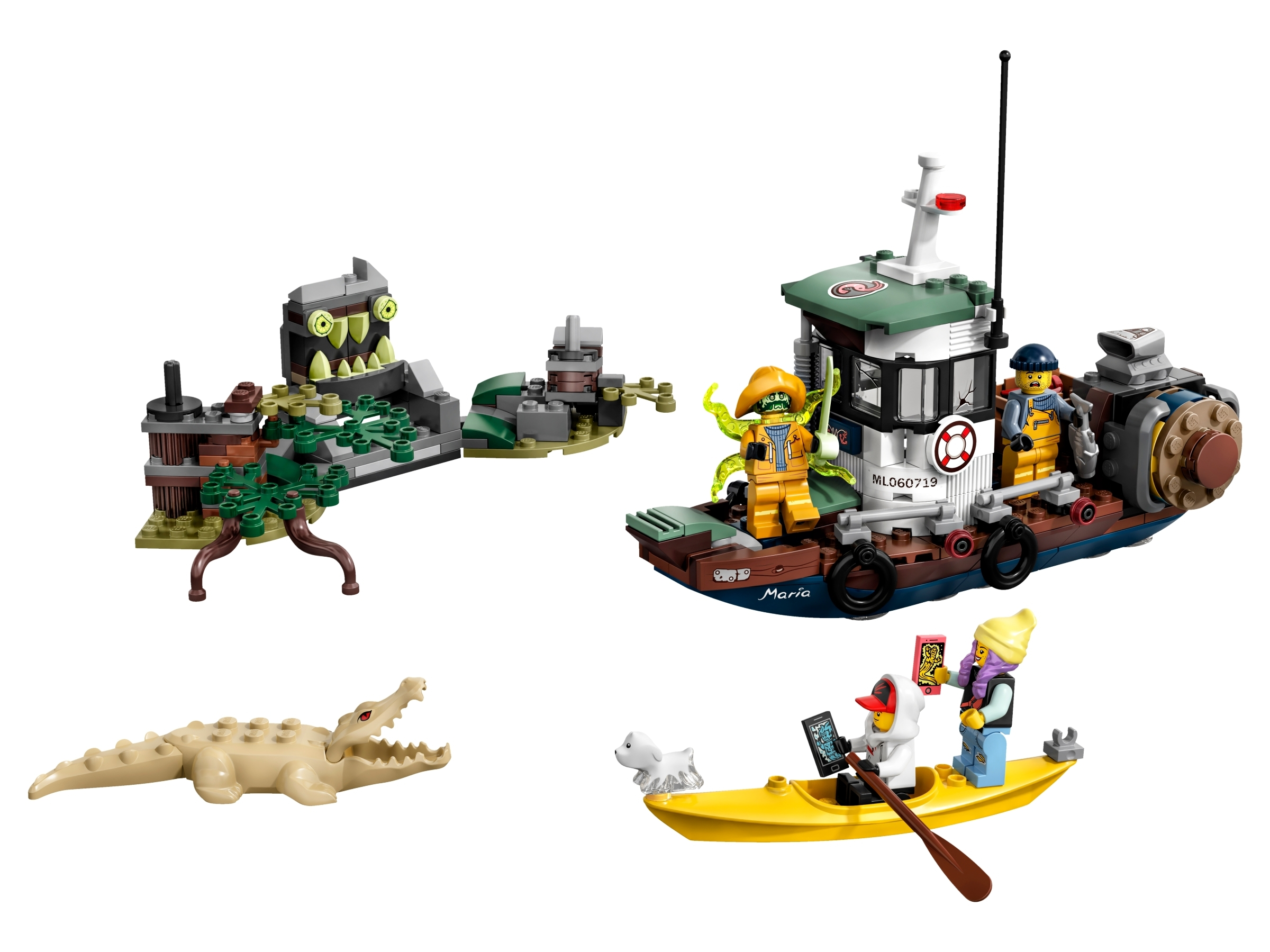 Lego Hidden Side 70419 Minifigures Wrecked Shrimp Boat