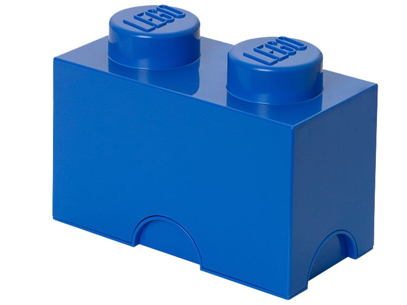 LEGO® 2-stud Blue Storage Brick