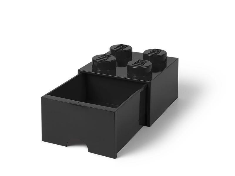 LEGO® 4-Stud Black Storage Brick Drawer