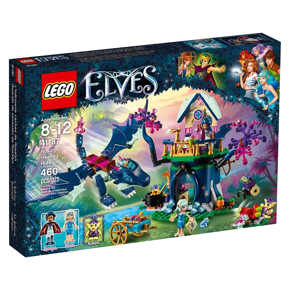 Elves Rosalyn/'s Healing Hideout Dragon 41187 Kids Gift Set Building blocks Toys
