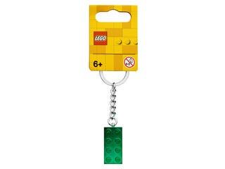 Schlüsselanhänger mit 2x4 Stein in Grünmetallic