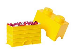 LEGO® 2-stud Yellow Storage Brick
