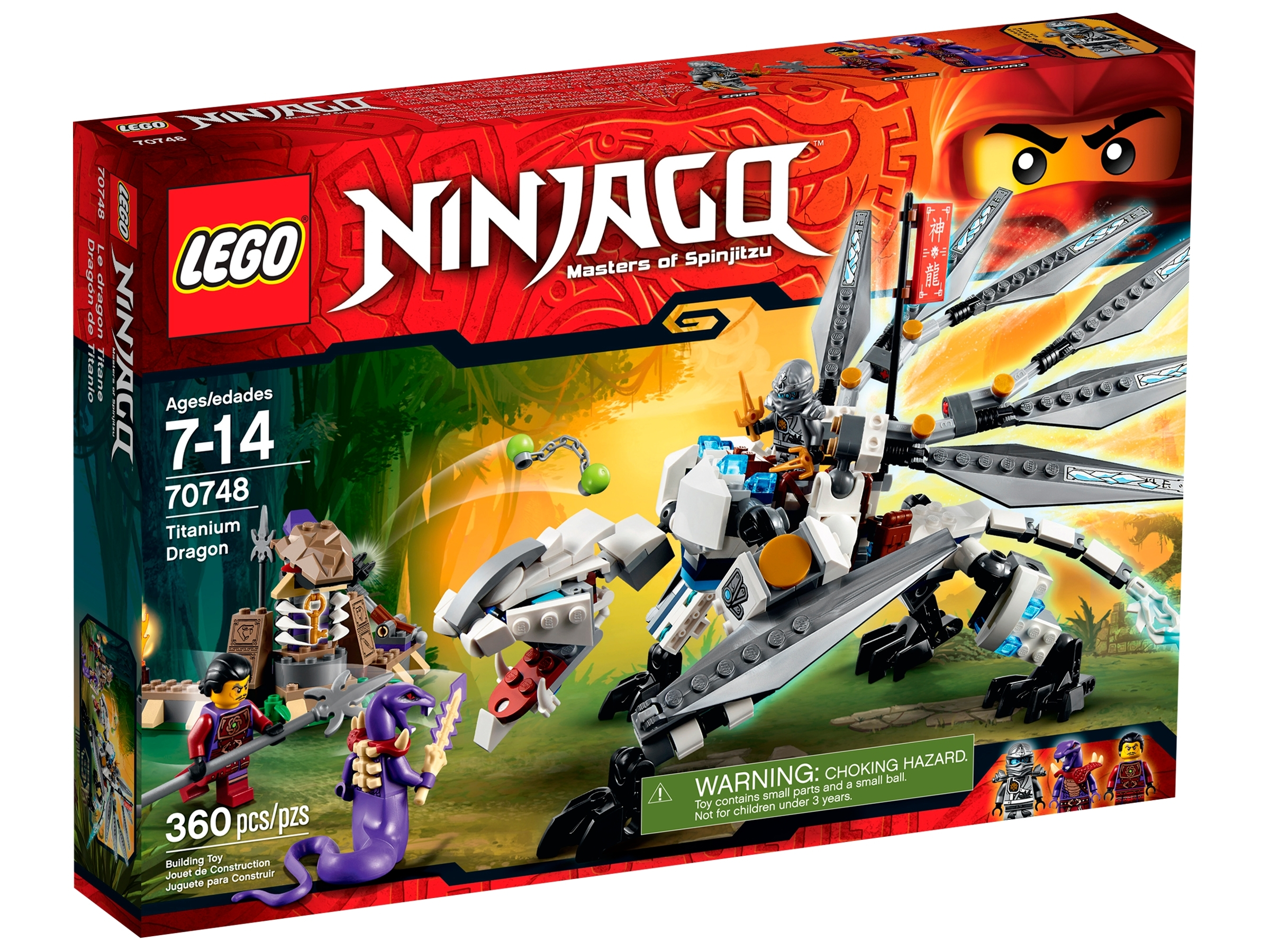 LEGO NINJAGO TITANIUM ZANE MINIFIGURE NINJA 70748 NEW