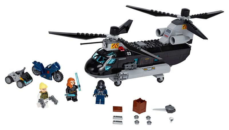 Black Widow's Helicopter Chase