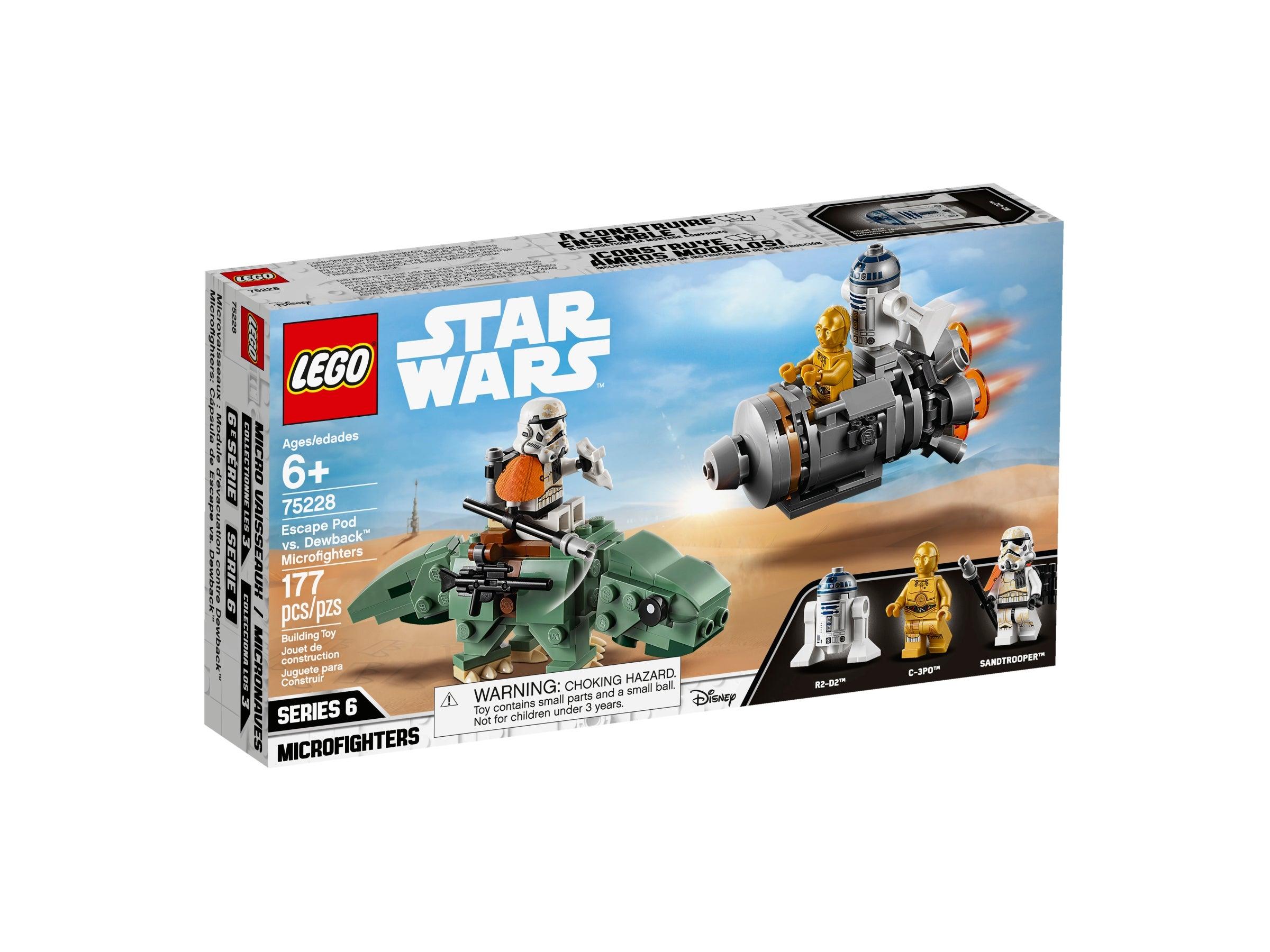 Lego Star Wars 75228 Escape Pod Vs Dewback Microfighters BNIB Damaged Sealed