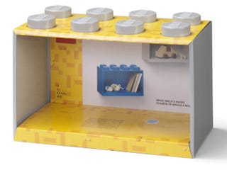 Brick Shelf 8 Knobs – Grey