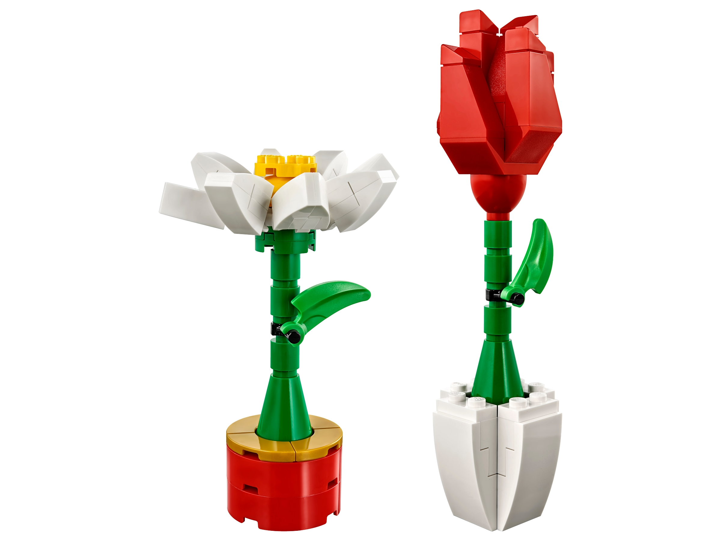 Lego 40187 Valentine Flowers Red Rose White Daisy Display