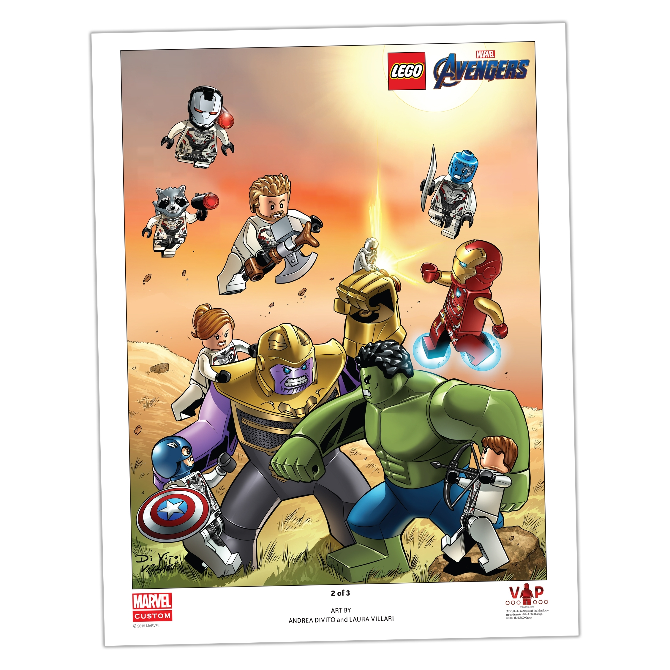 Lego Avengers Endgame Art Print 2 Of 3 5005881 Unknown Buy Online At The Official Lego Shop Us