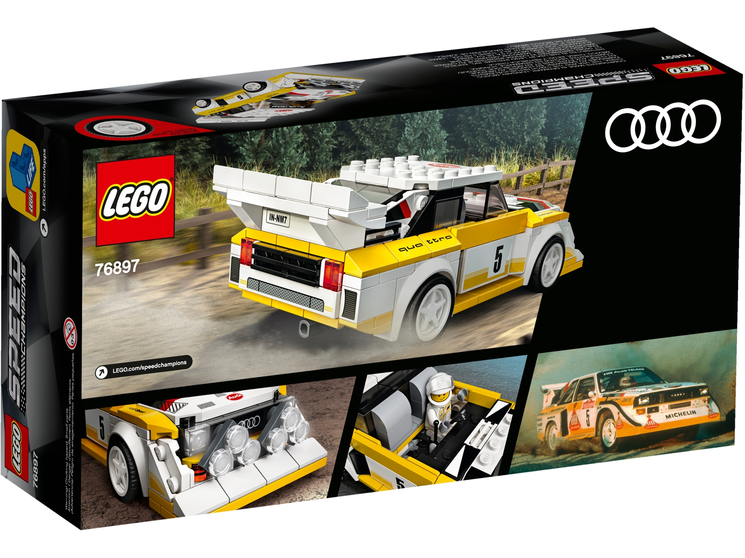LEGO Speed Champions Audi Sport Quattro S1 Car Set 76897 Age 5 250pcs